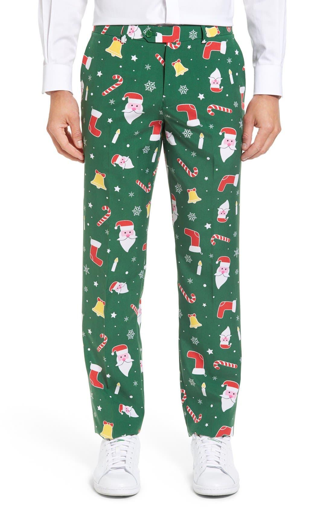 'Santaboss' Trim Fit Two-Piece Suit with Tie,                             Alternate thumbnail 7, color,                             301