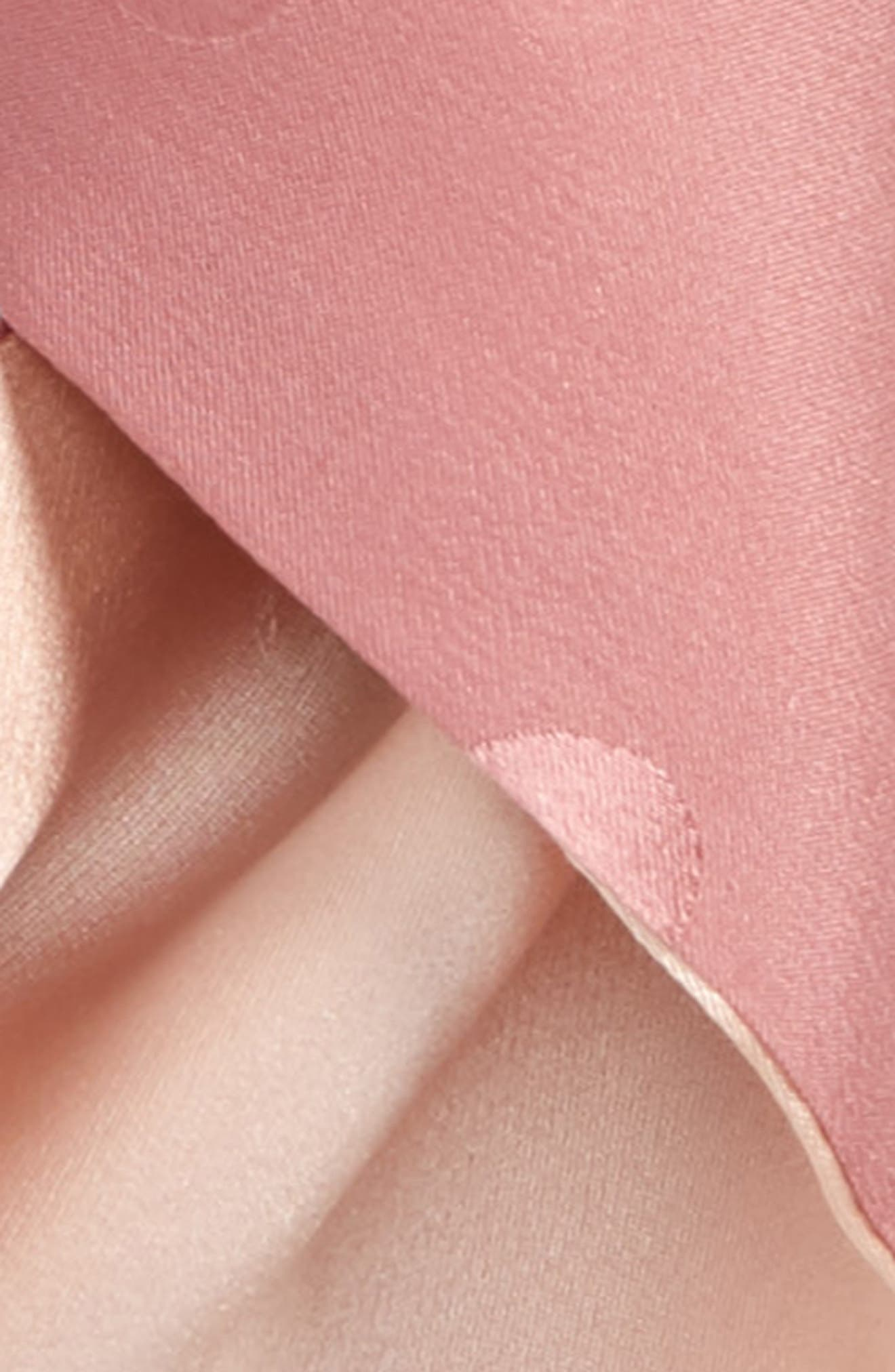 x Atlantic-Pacific Double Sided Silk Jacquard Scarf,                             Alternate thumbnail 4, color,                             PINK COMBO