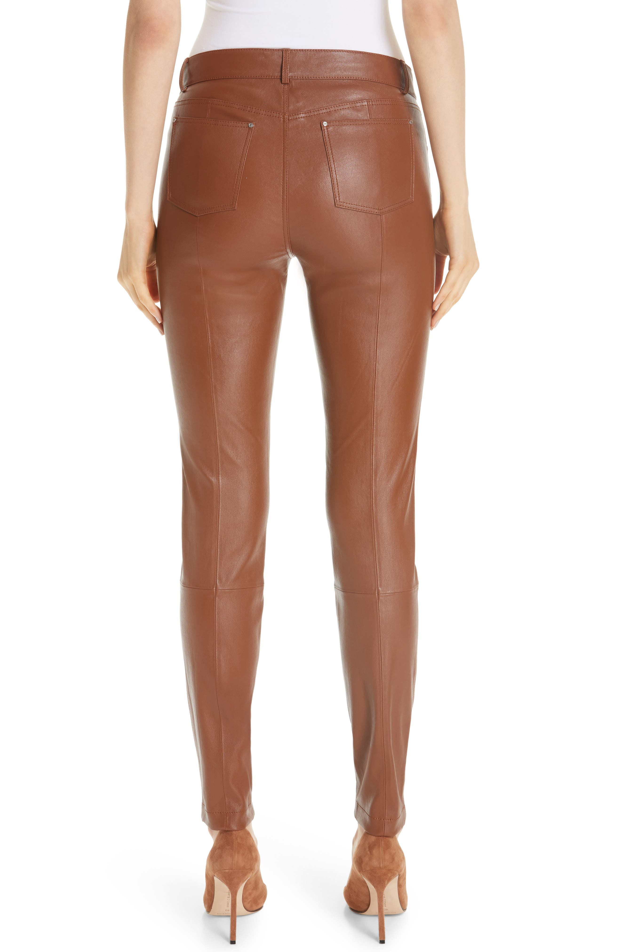 Mercer Nappa Leather Pants,                             Alternate thumbnail 2, color,                             VICUNA
