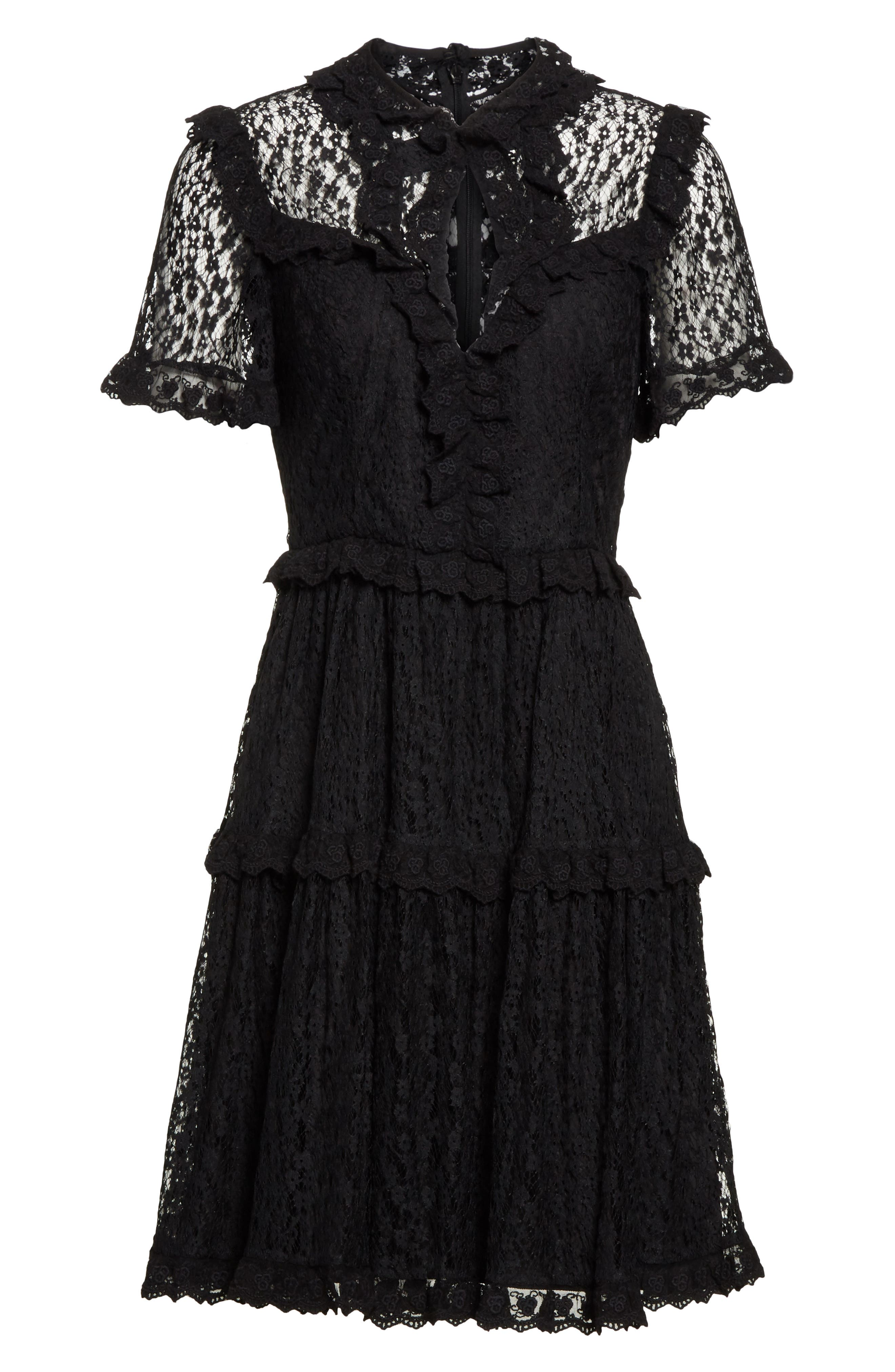 Daisy Lace Dress,                             Alternate thumbnail 6, color,                             001