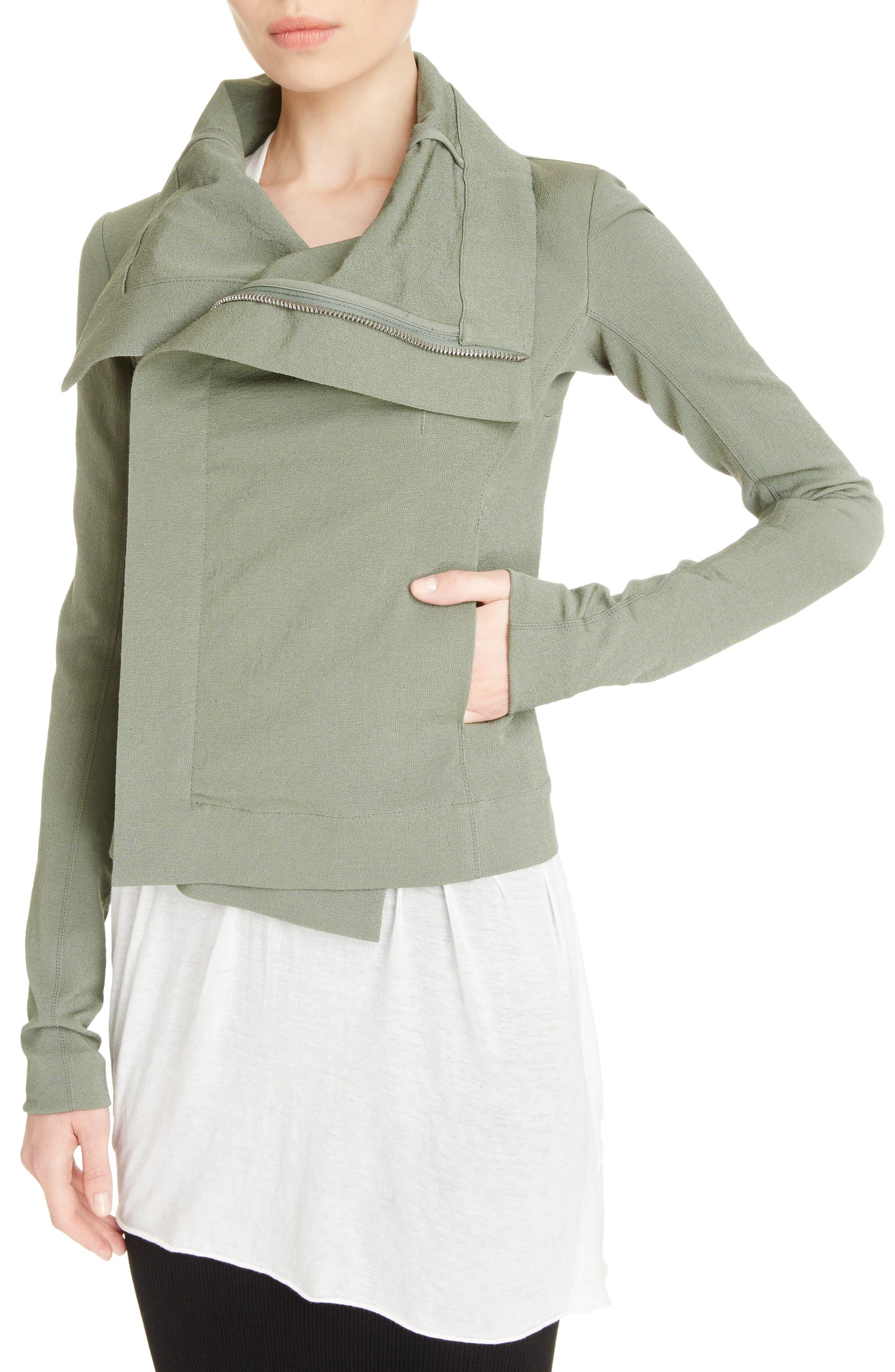 Cotton Blend Biker Jacket,                             Alternate thumbnail 4, color,                             300