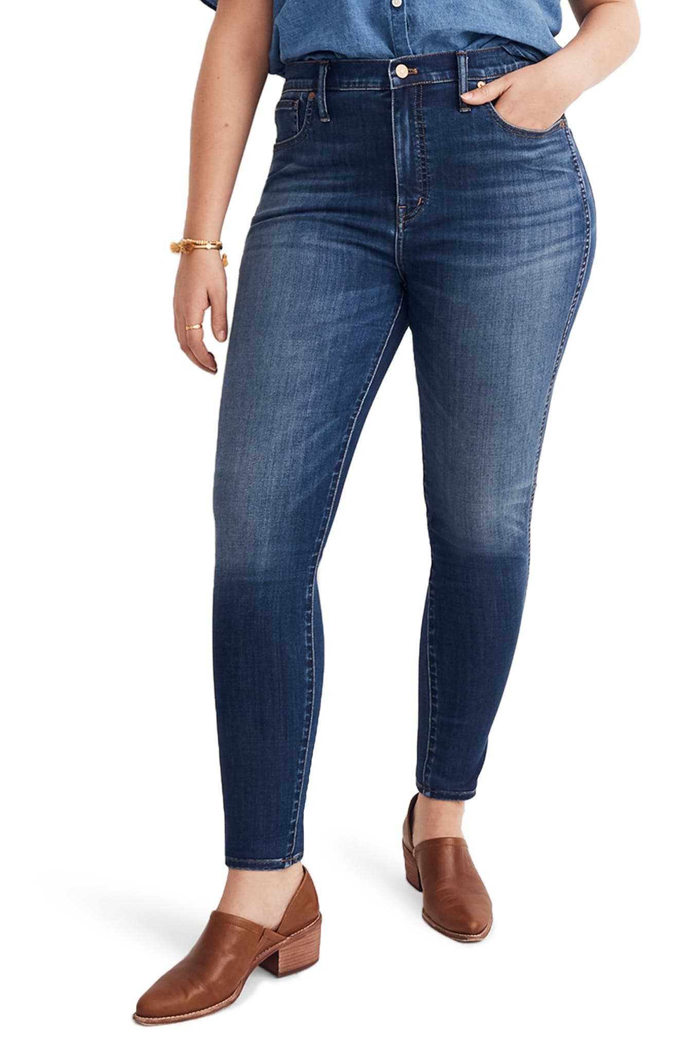 10-Inch High Rise Skinny Jeans,                             Alternate thumbnail 2, color,                             DANNY