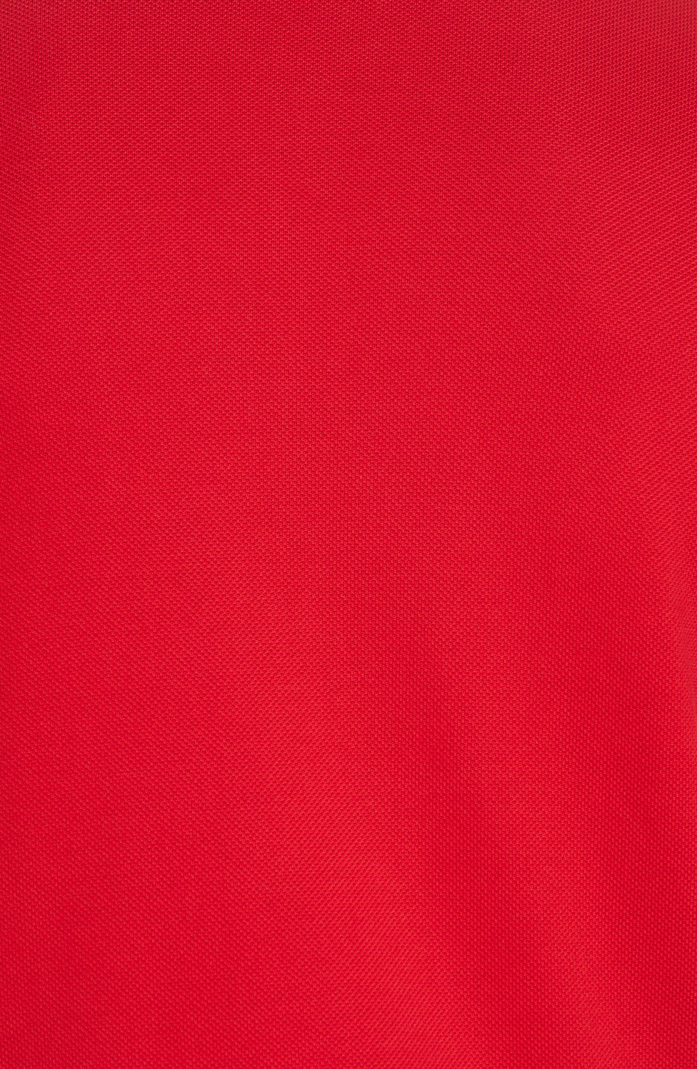 Hartford Piqué Polo,                             Alternate thumbnail 5, color,                             MILITARY RED