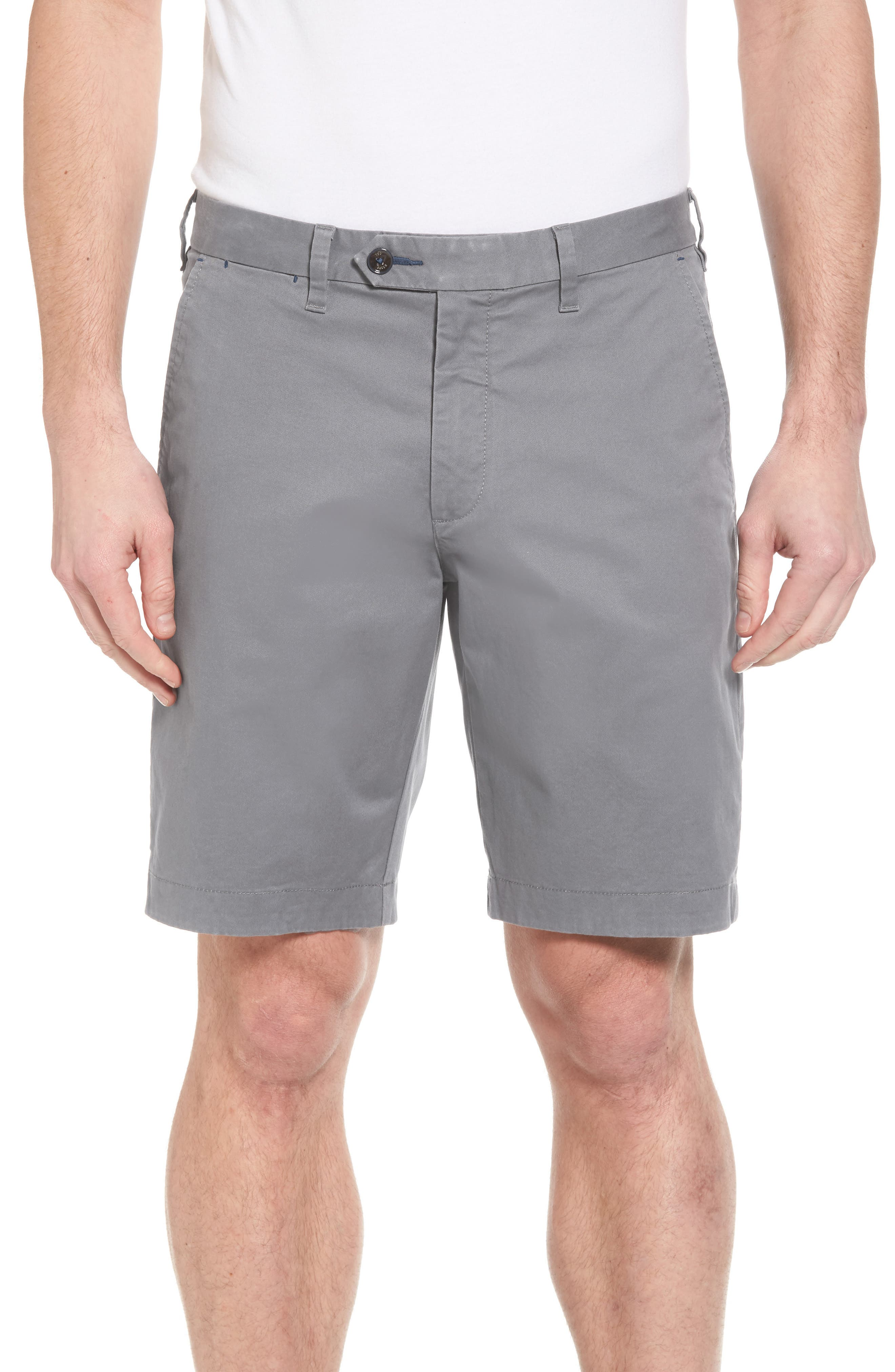 Proshor Slim Fit Chino Shorts,                             Main thumbnail 1, color,                             LIGHT GREY