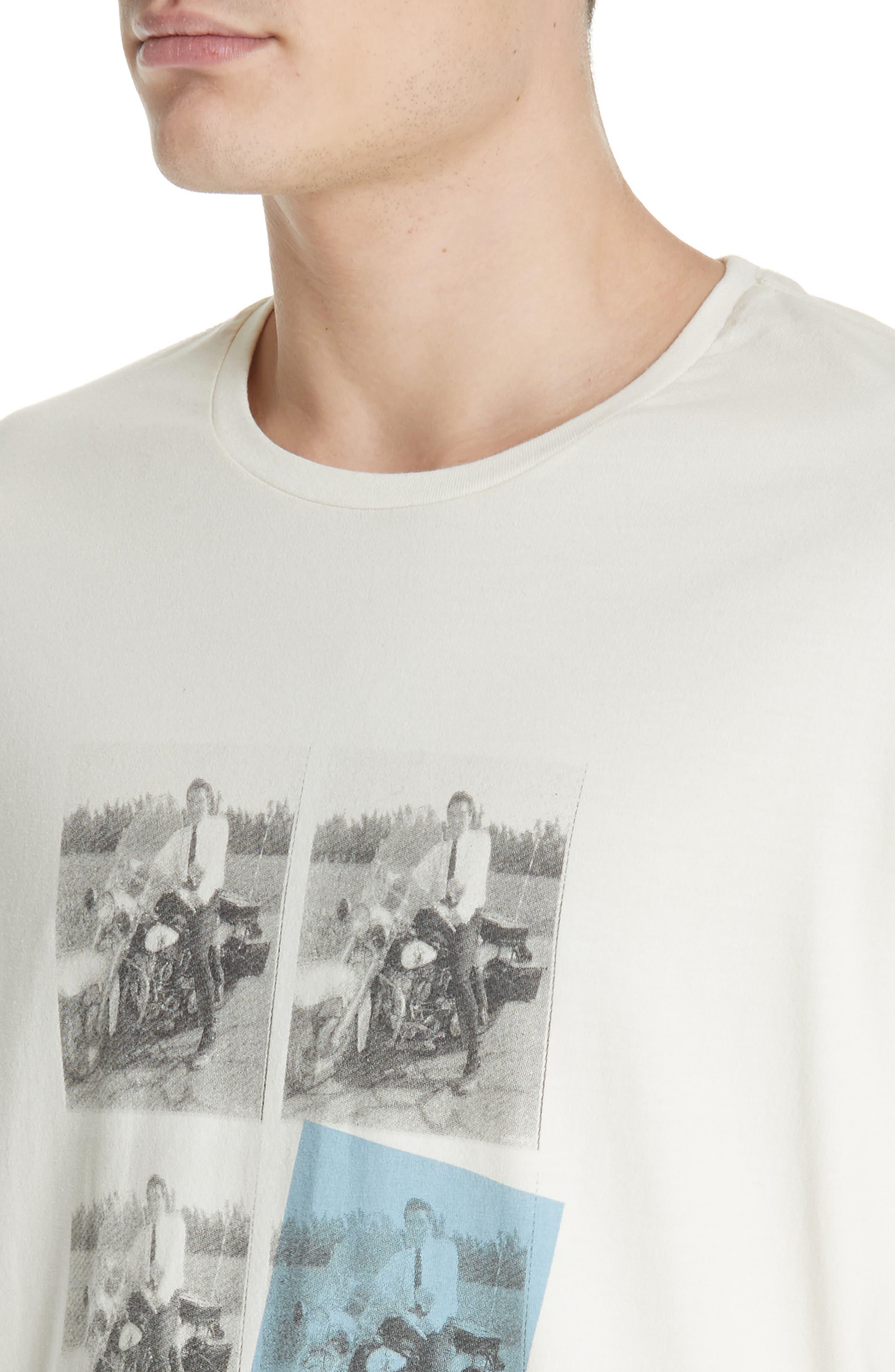 Elvis Graphic T-Shirt,                             Alternate thumbnail 4, color,                             OFF WHITE