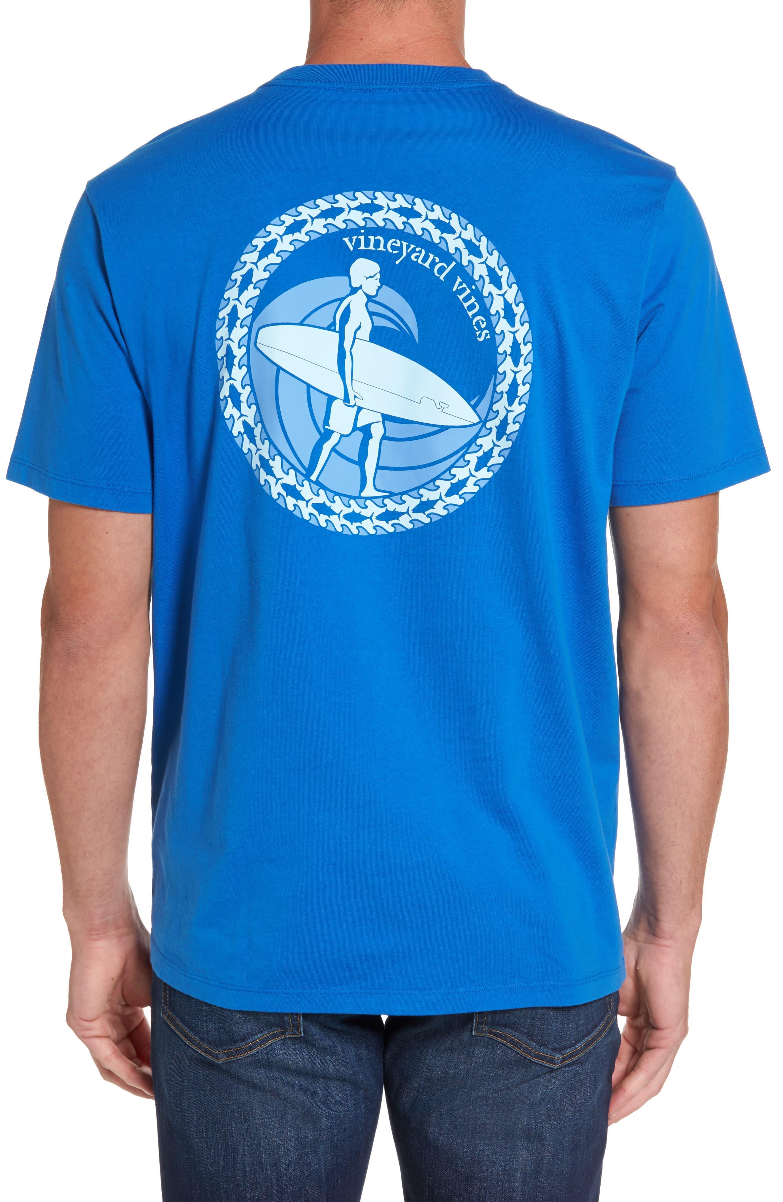 Surf Wave Graphic Pocket T-Shirt,                             Alternate thumbnail 2, color,                             427
