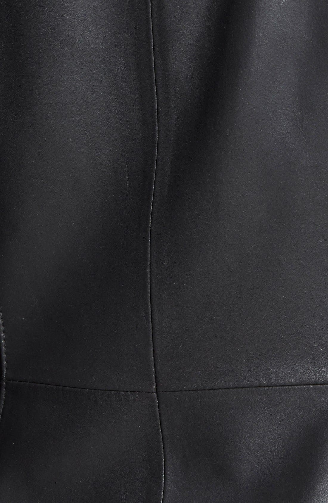 'Angelina' Zip Collar Leather Jacket,                             Alternate thumbnail 2, color,                             001