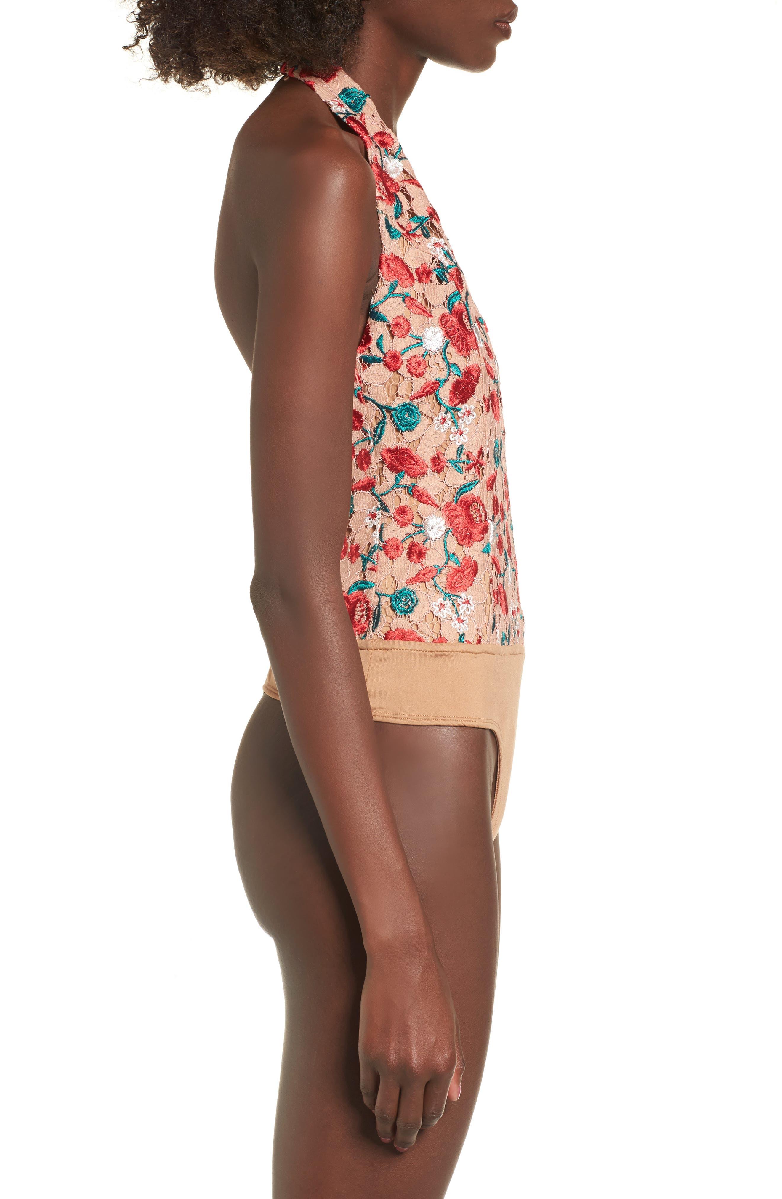 Rosalyn Thong Bodysuit,                             Alternate thumbnail 4, color,                             250