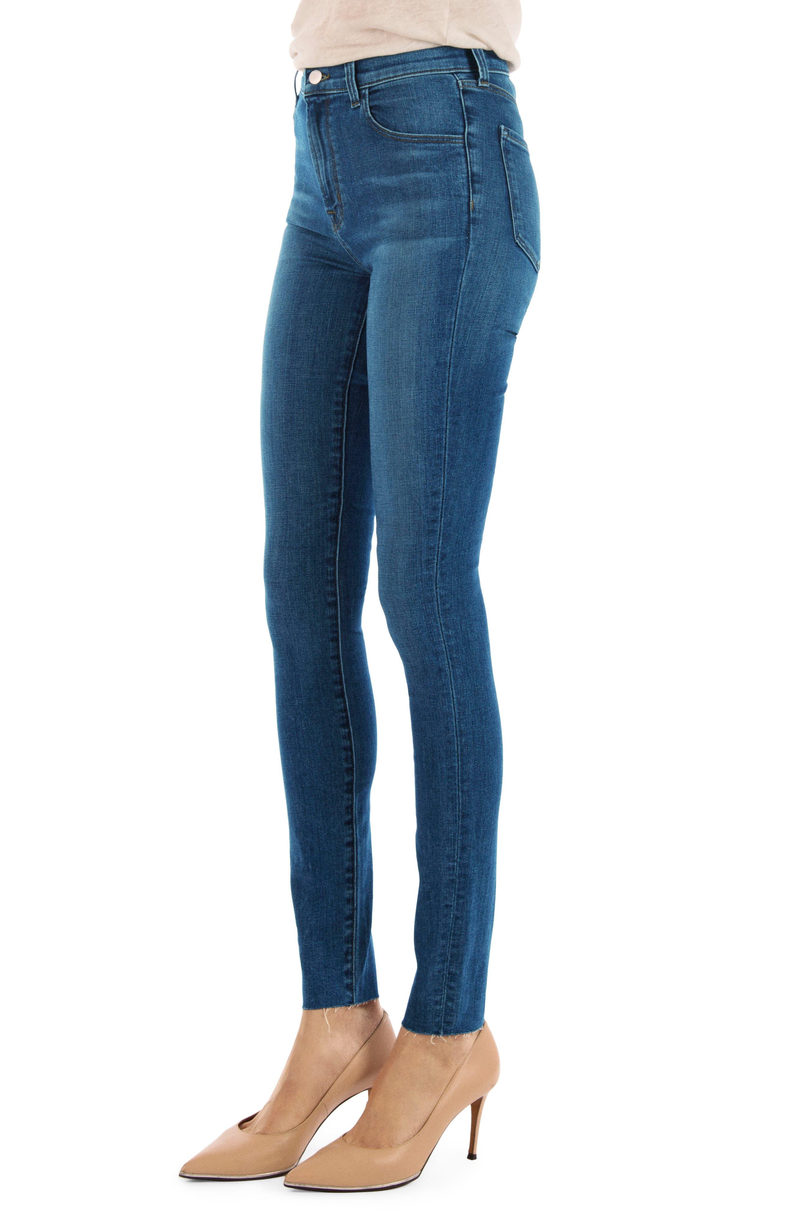 Carolina Super High Waist Skinny Jeans,                             Alternate thumbnail 3, color,                             LOVESICK