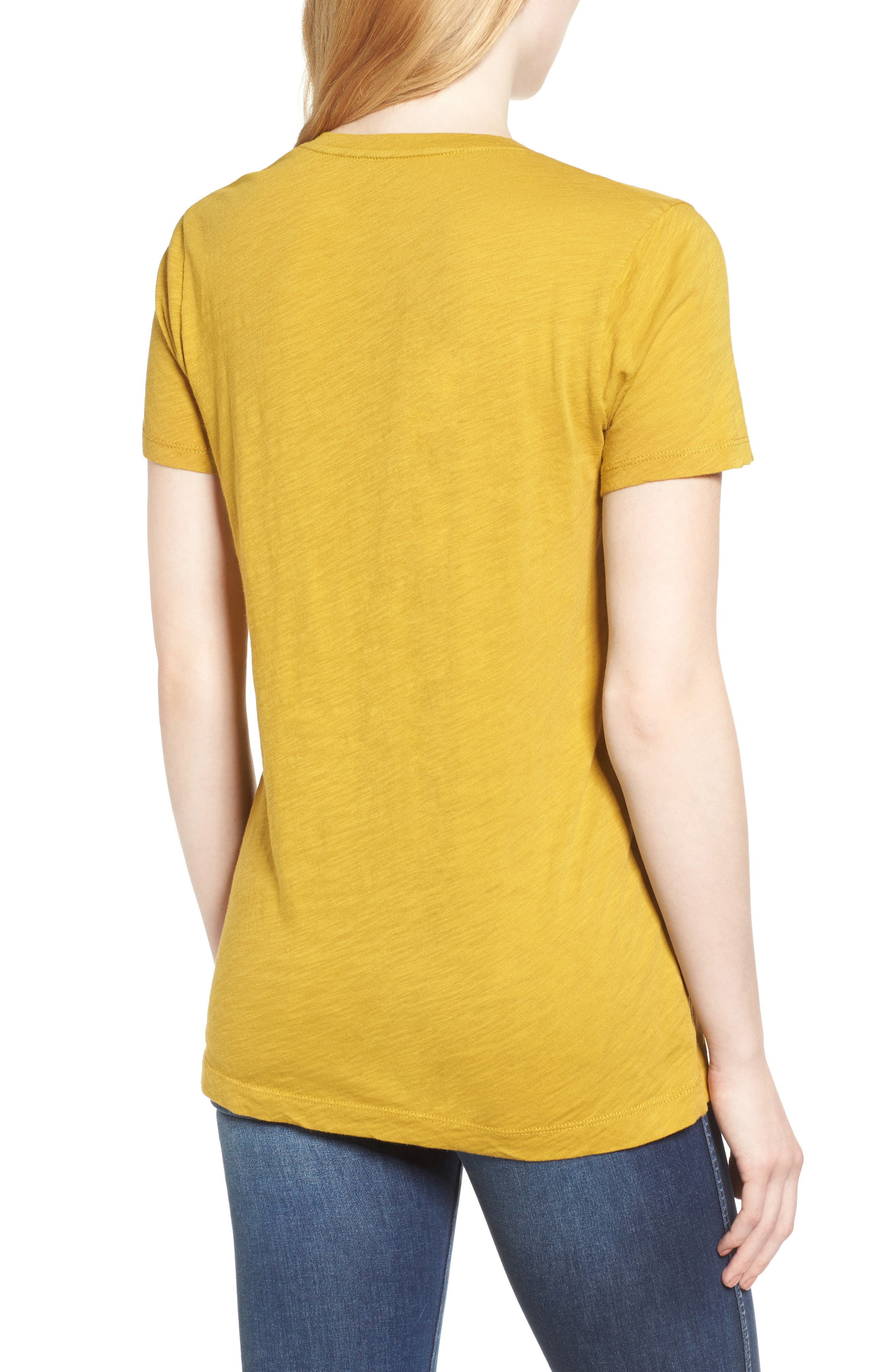Whisper Cotton V-Neck Pocket Tee,                             Alternate thumbnail 83, color,