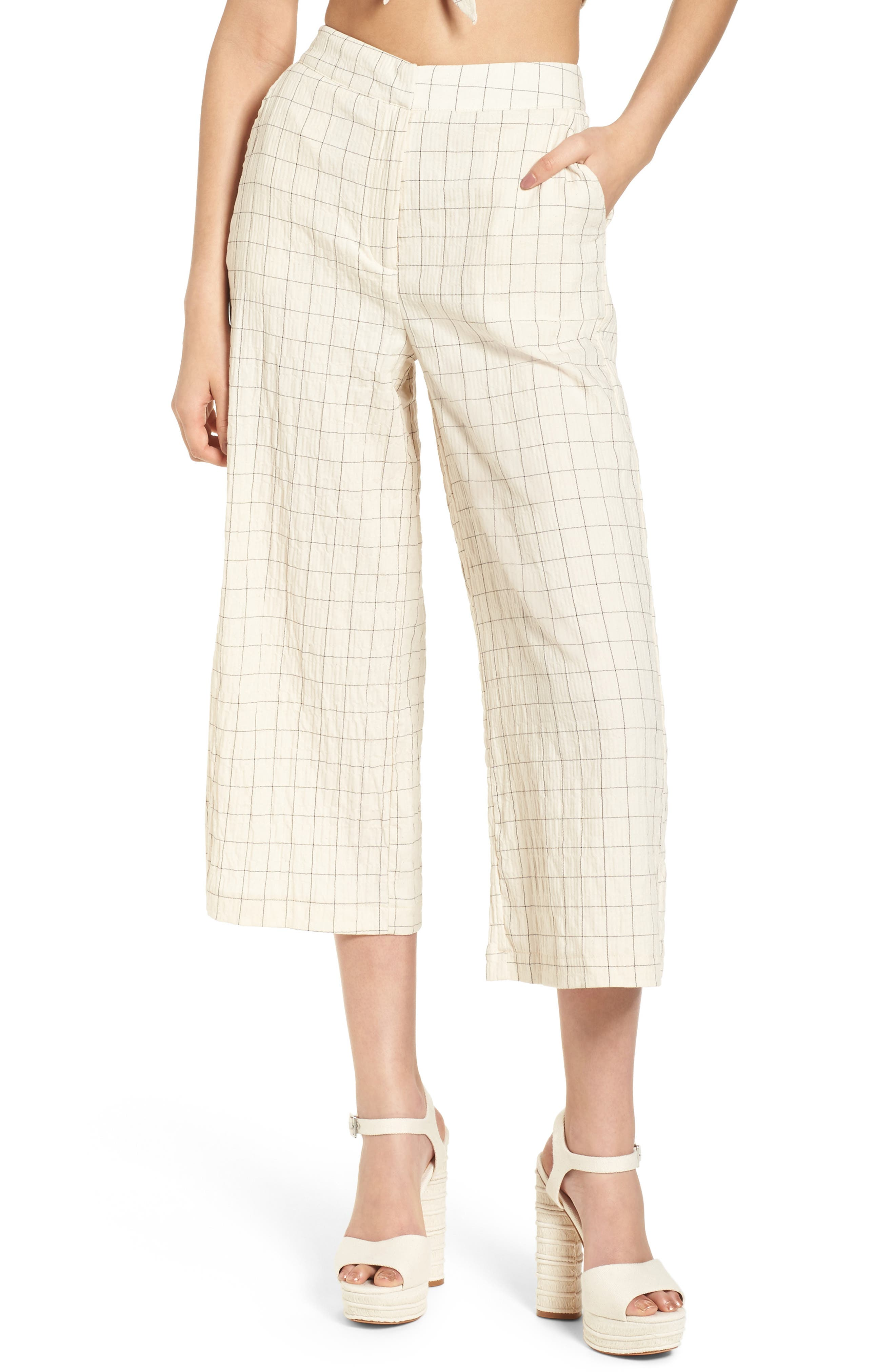 Plaid Culottes,                         Main,                         color, 250