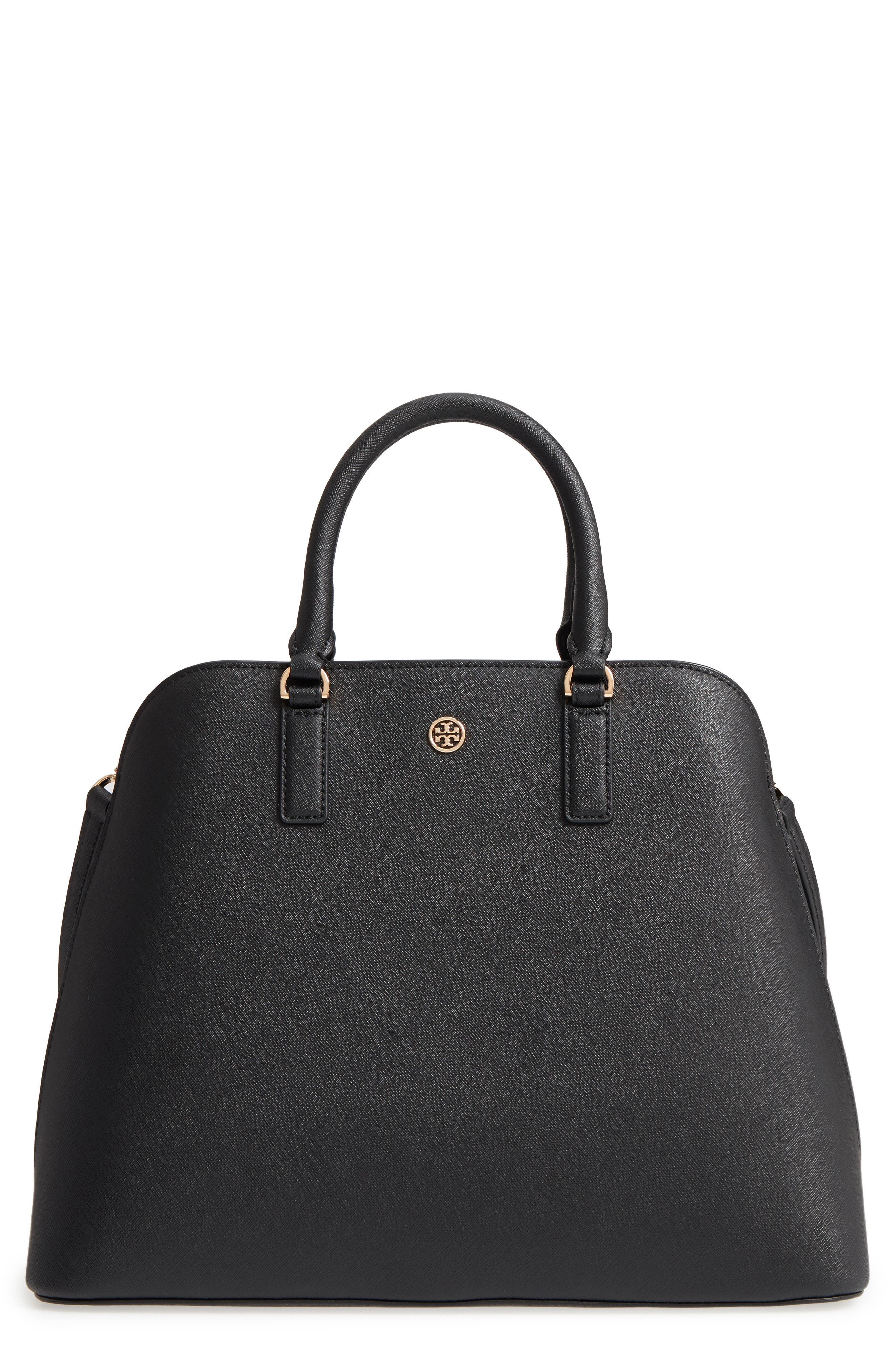 Robinson Leather Dome Satchel,                         Main,                         color, 001