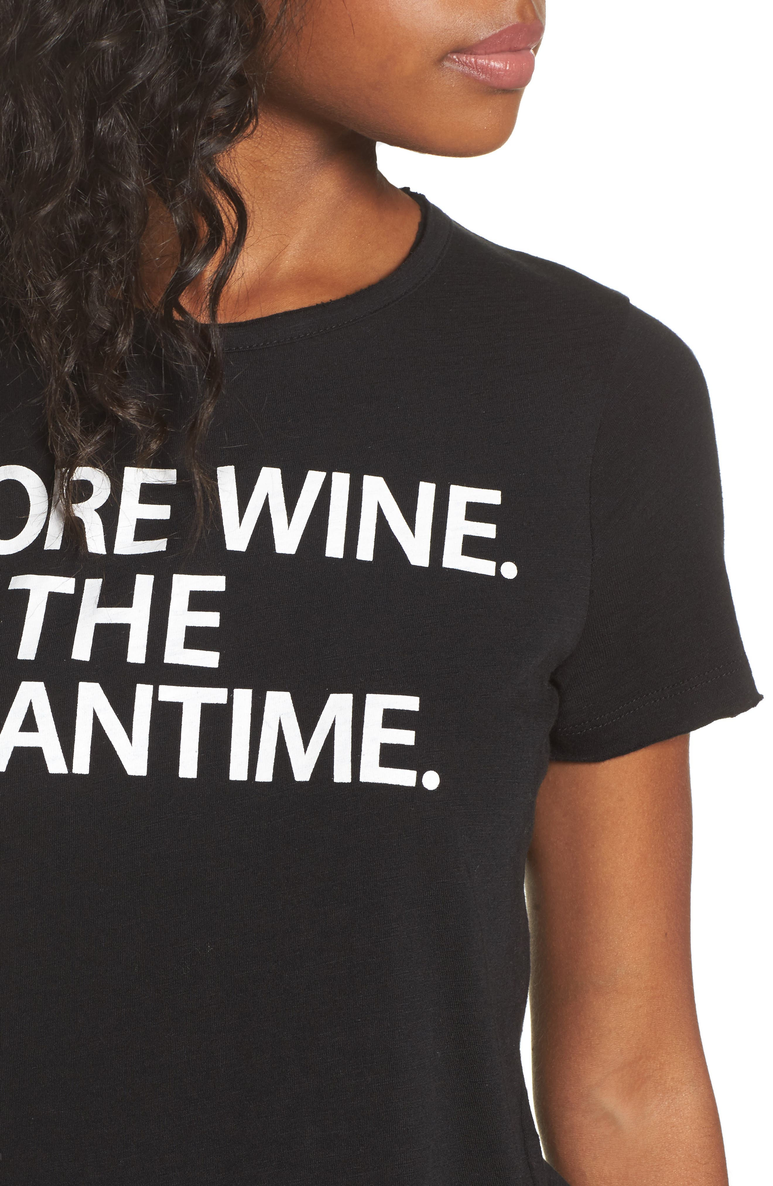 More Wine Jersey Tee,                             Alternate thumbnail 4, color,