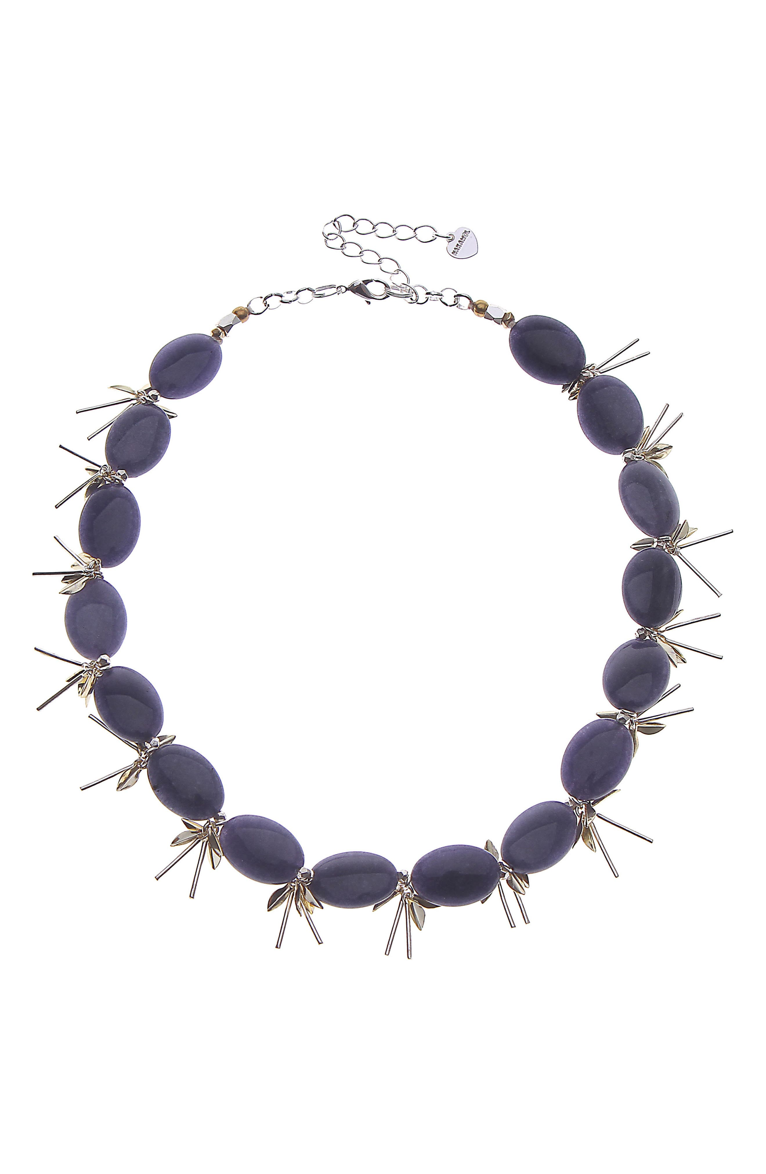 Chunk Agate Necklace,                         Main,                         color, 400