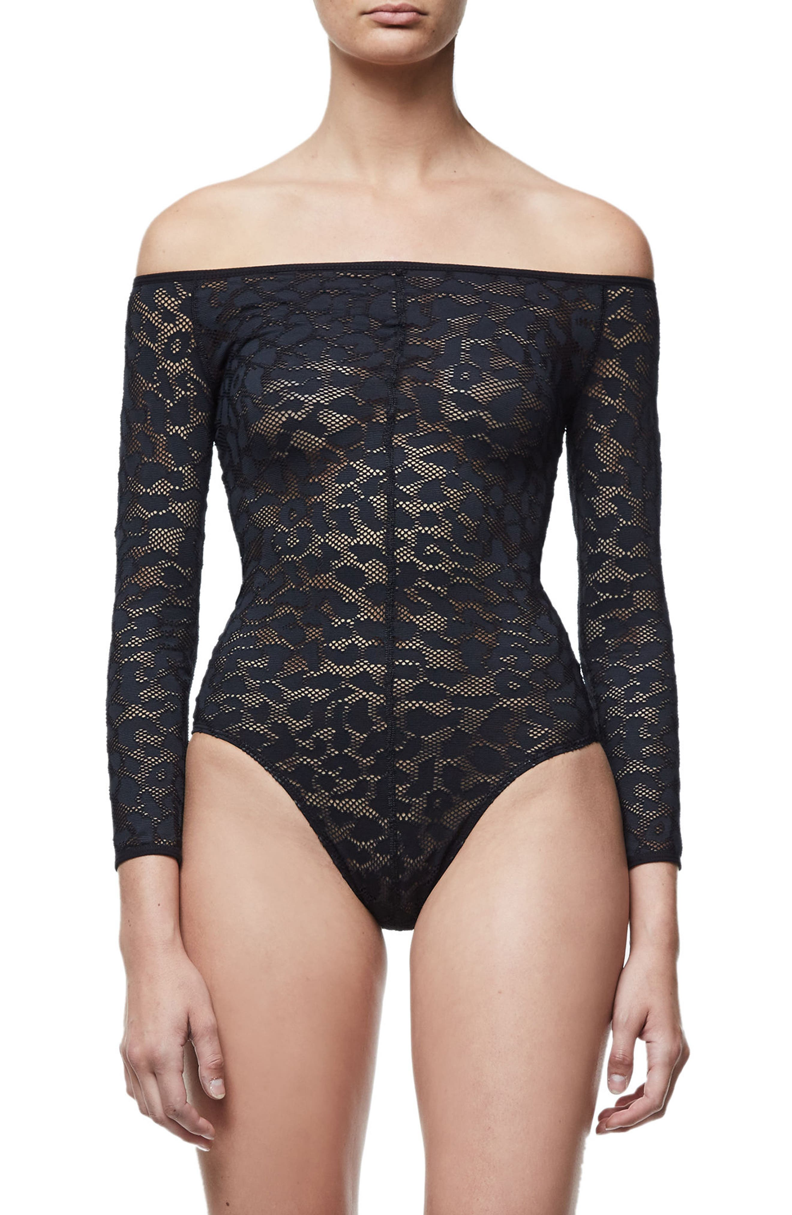 Good Body Shoulder Action Bodysuit,                             Alternate thumbnail 2, color,                             001