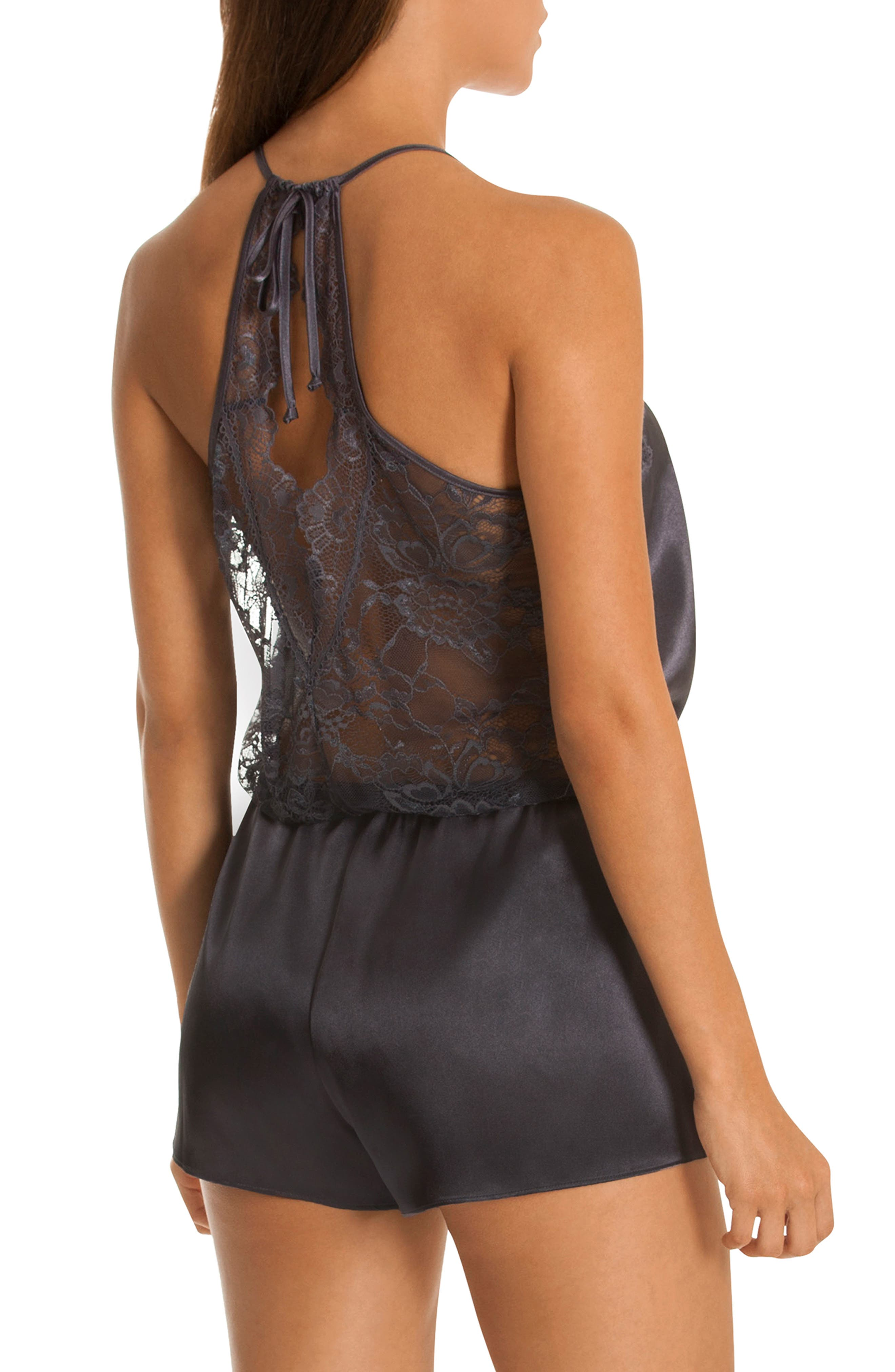 IN BLOOM BY JONQUIL,                             Lace Trim Romper,                             Alternate thumbnail 2, color,                             020