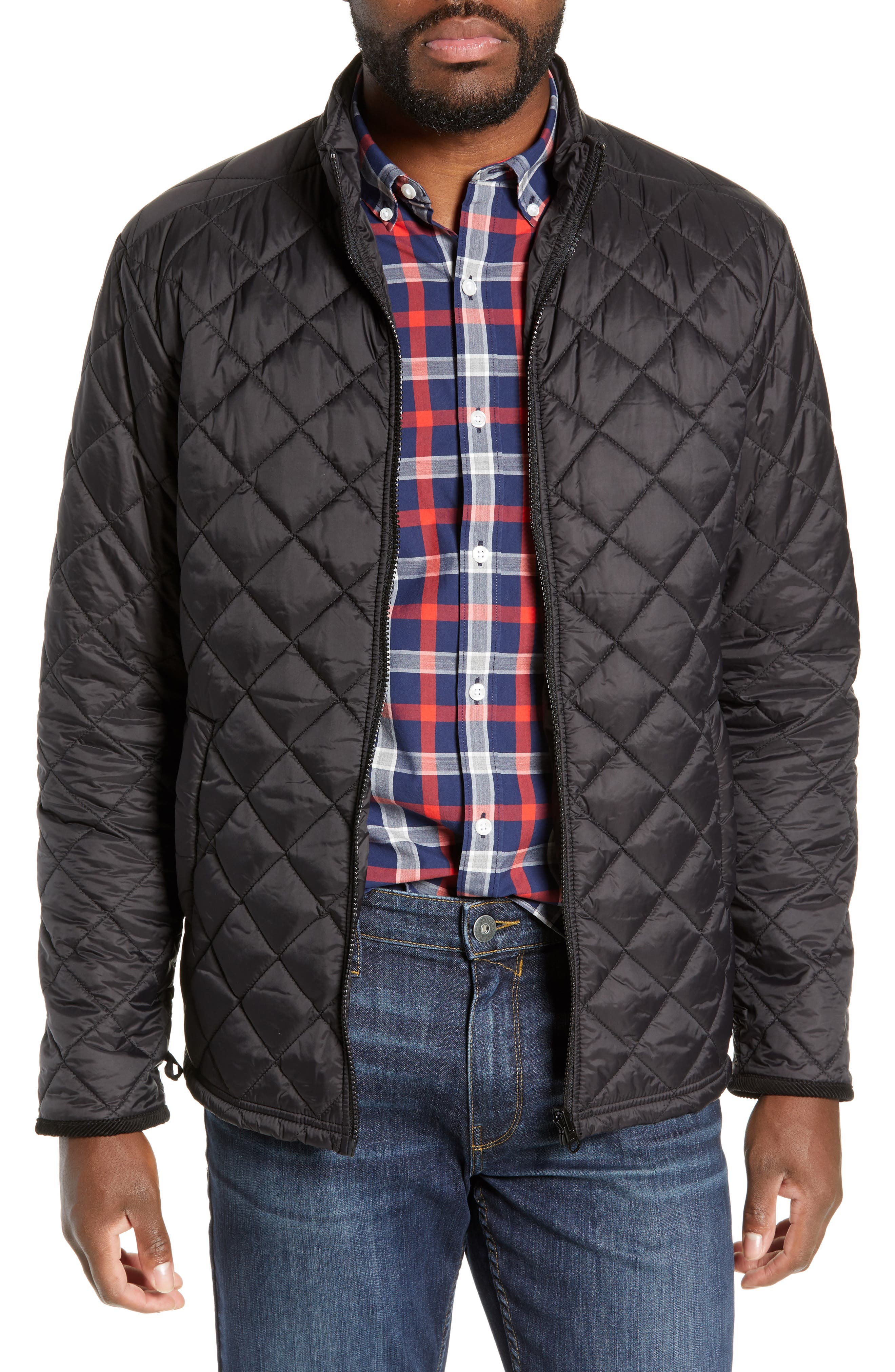 'Harper' Water Resistant 3-in-1 Waxed Canvas Jacket,                             Alternate thumbnail 2, color,                             ONYX