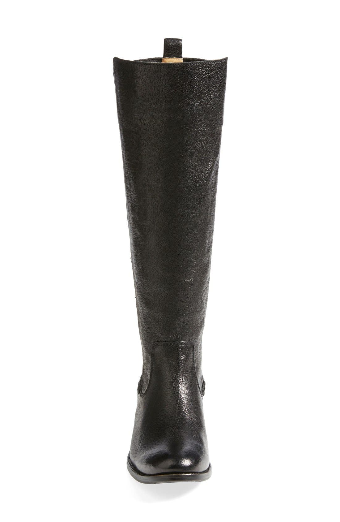 'Molly' Gore Leather Boot,                             Alternate thumbnail 2, color,                             001