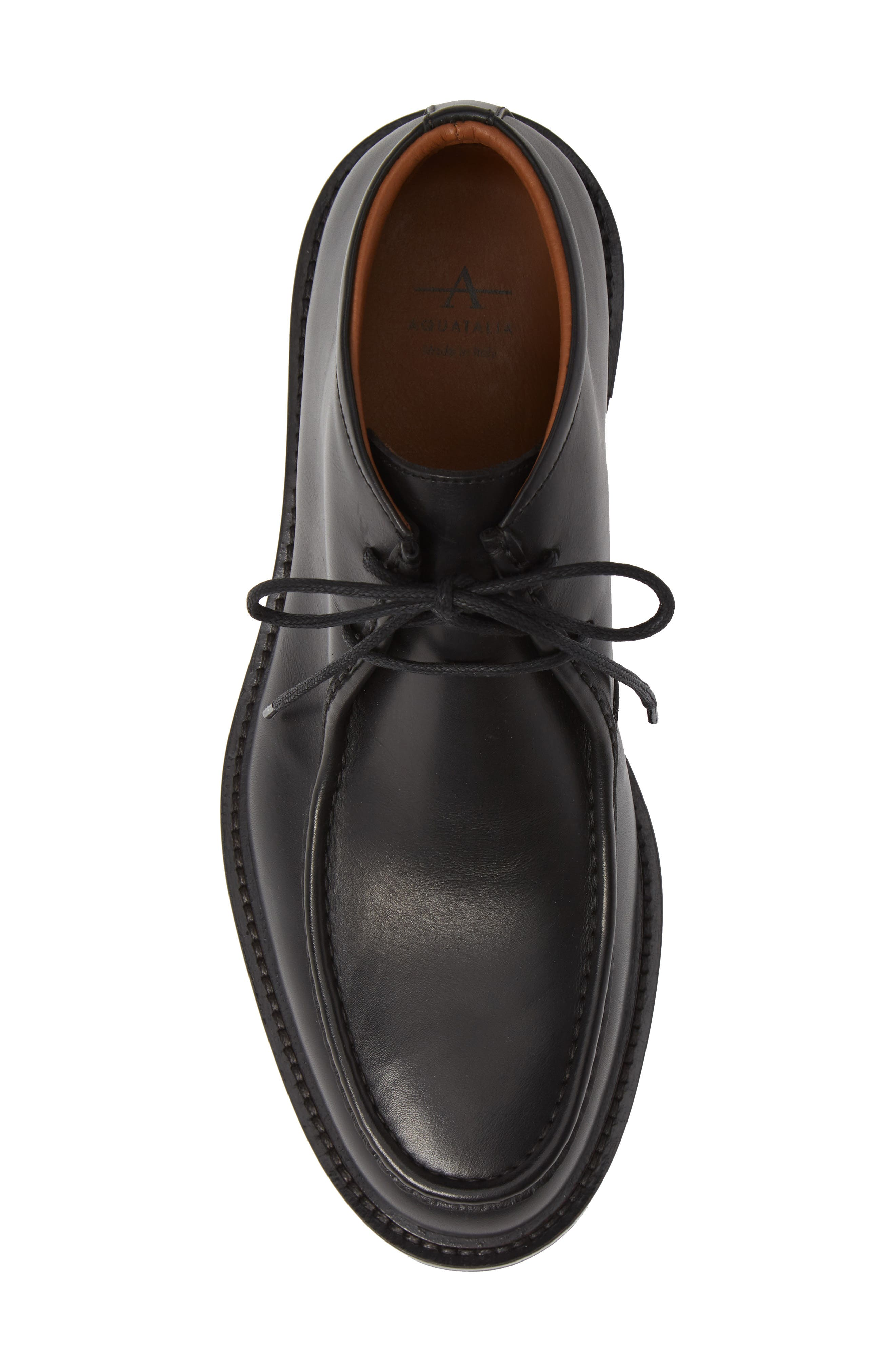 Kyle Weatherproof Chukka Boot,                             Alternate thumbnail 5, color,                             BLACK LEATHER