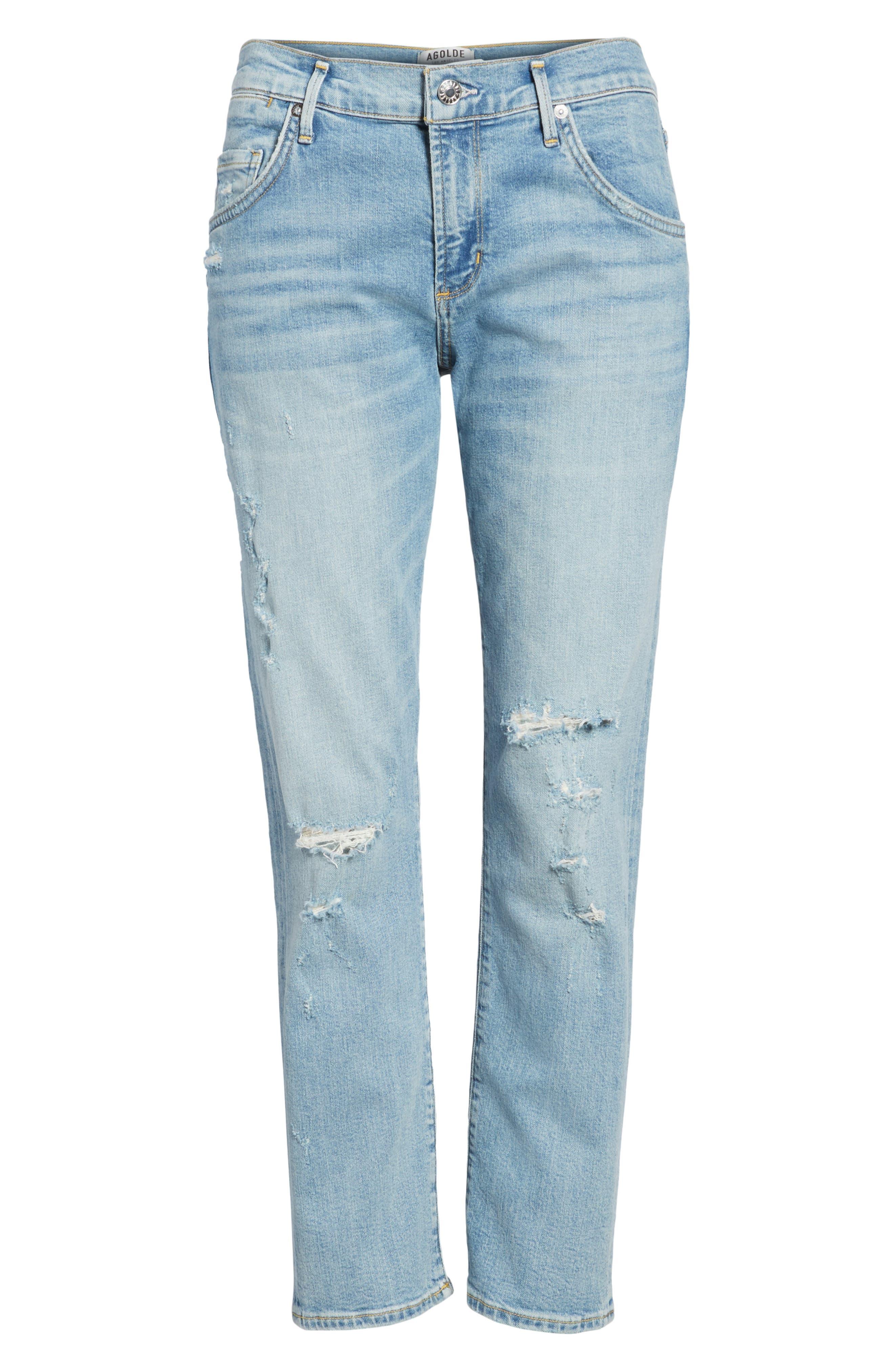 Isabel Ankle Slim Boyfriend Jeans,                             Alternate thumbnail 7, color,                             463