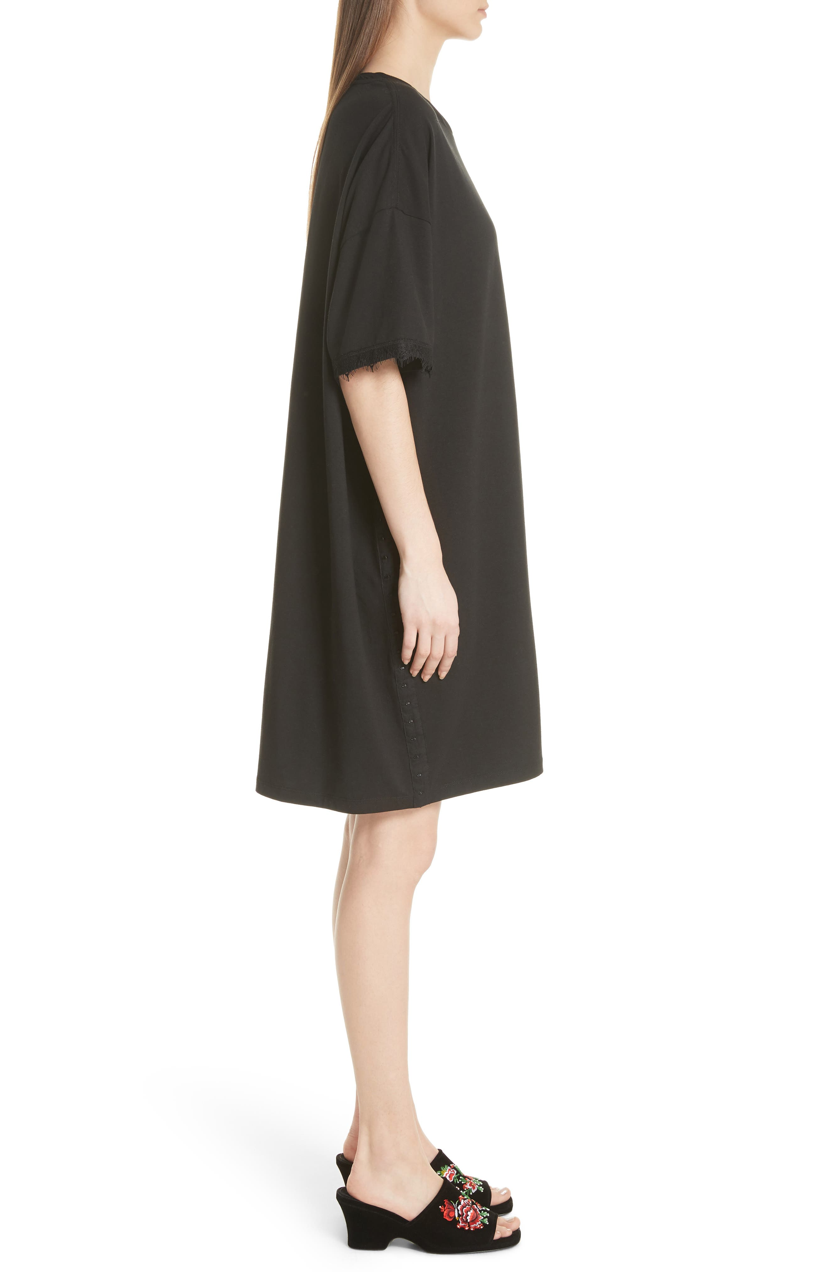 OPENING CEREMONY,                             Hook-and-Eye T-Shirt Dress,                             Alternate thumbnail 4, color,                             014