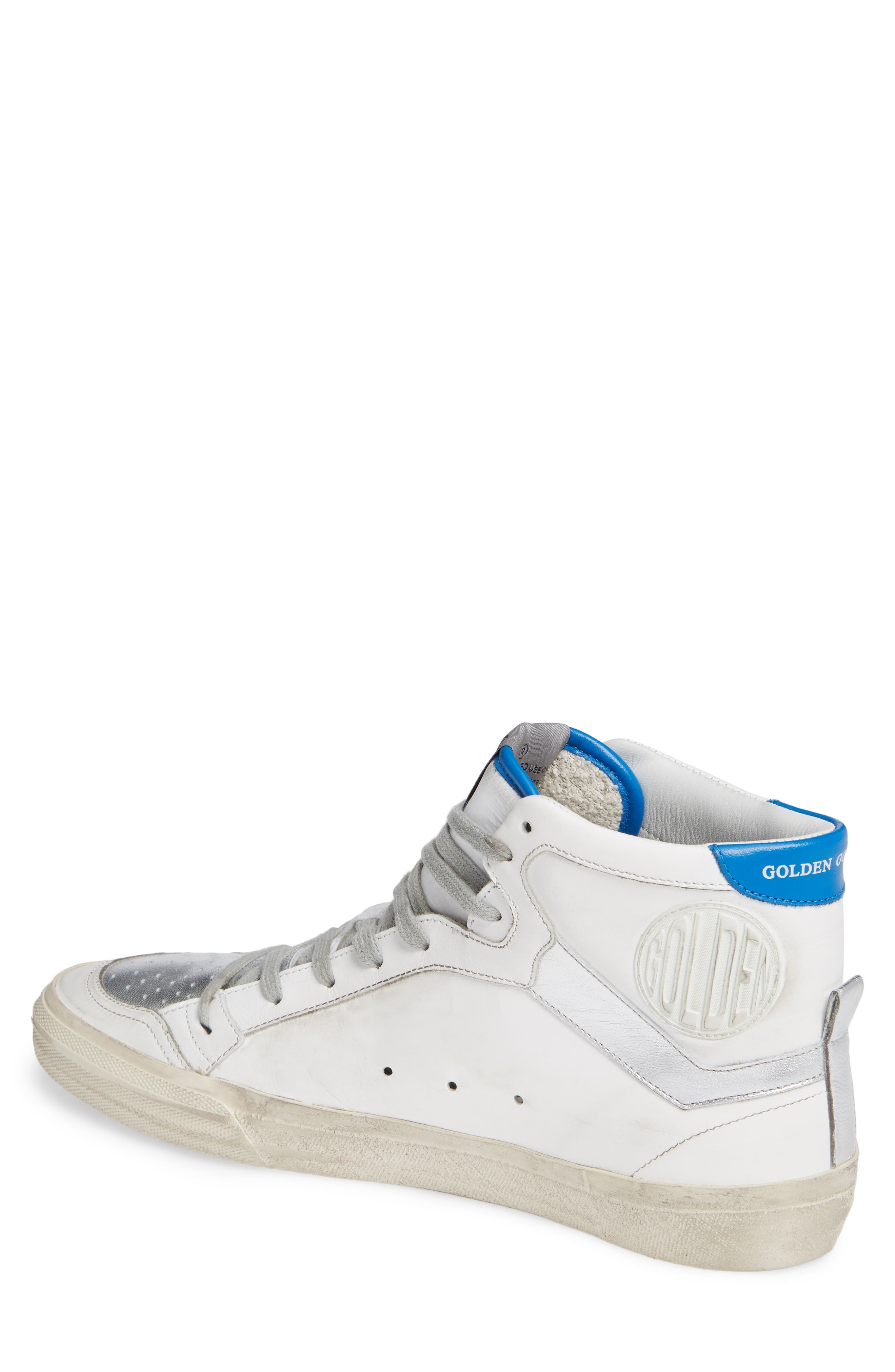 2.12 Star High Top Sneaker,                             Alternate thumbnail 2, color,                             WHITE LEATHER- RED STAR