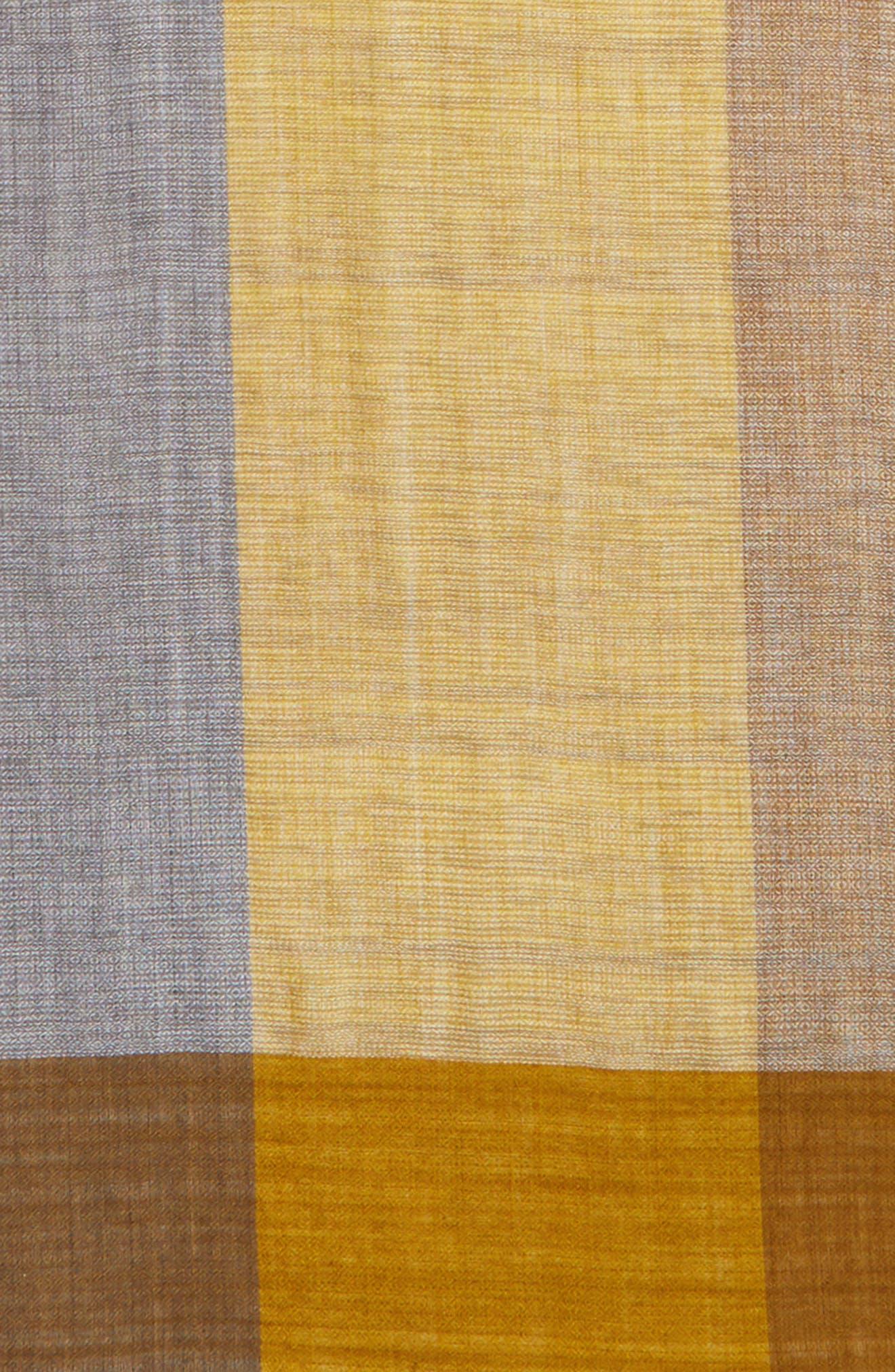 Colorblock Wool & Silk Scarf,                             Alternate thumbnail 12, color,