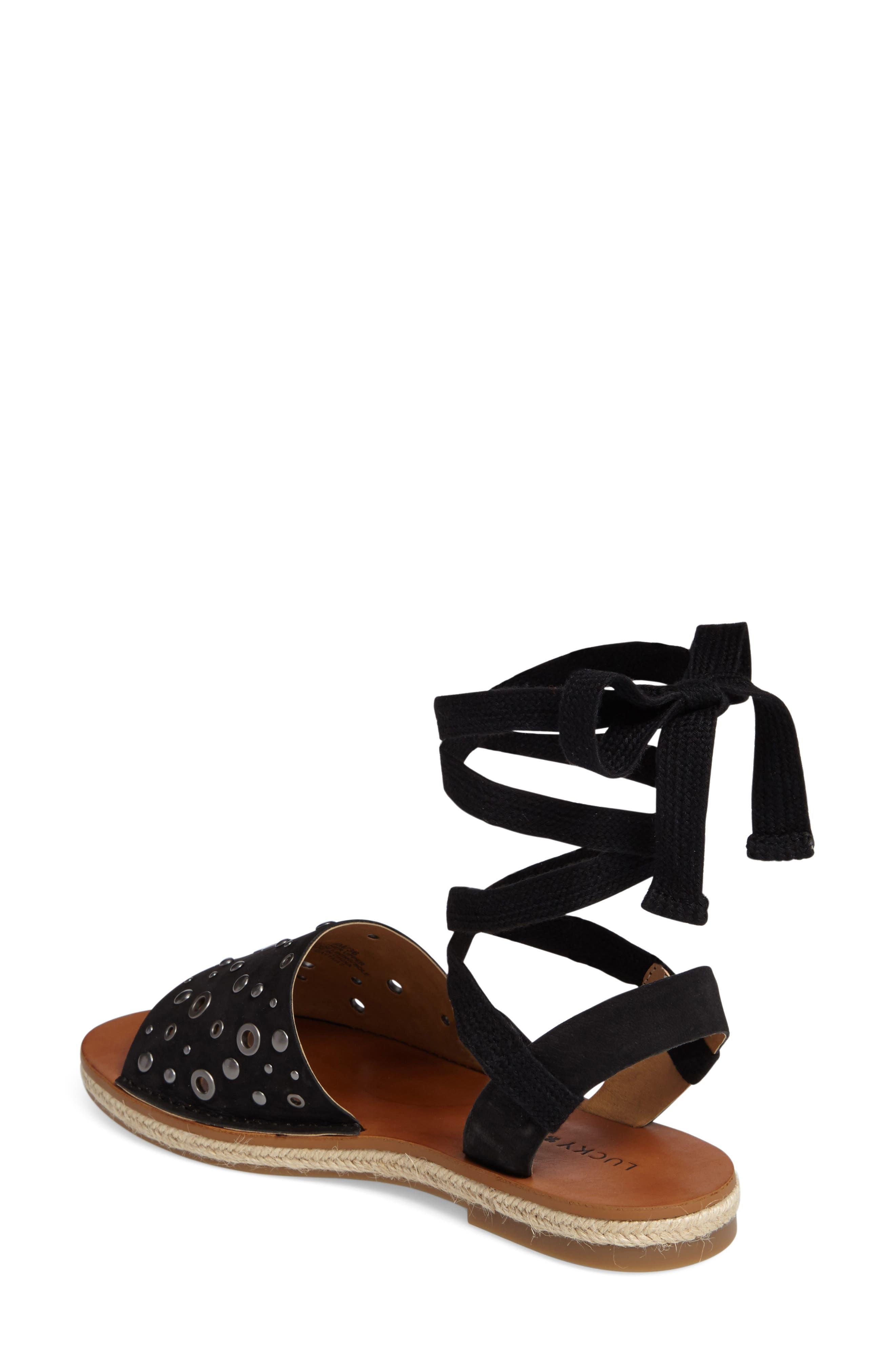 Daytah Ankle Tie Sandal,                             Alternate thumbnail 5, color,