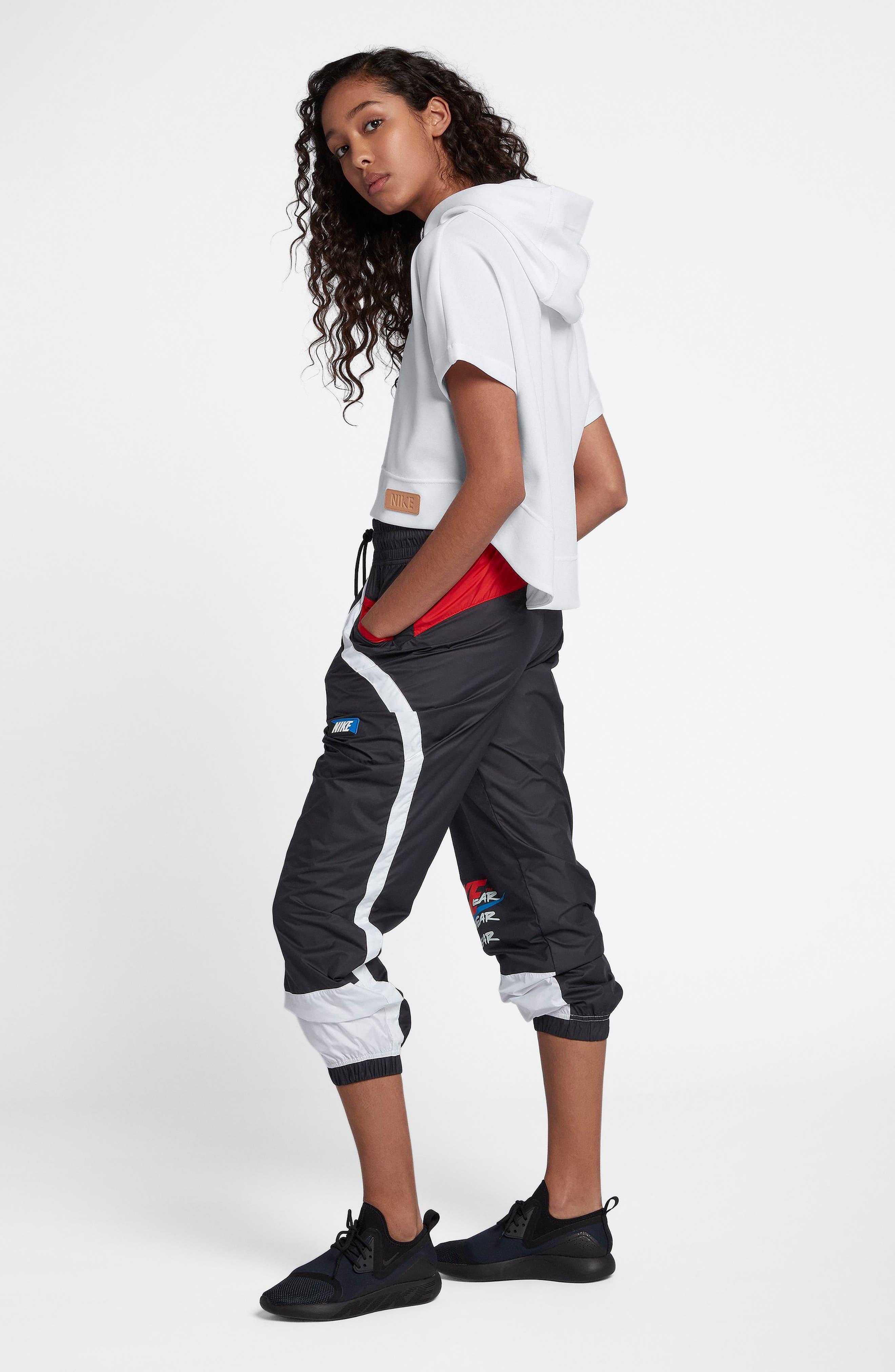 NIKE,                             Sportswear Beautiful x Powerful Crop Hoodie,                             Alternate thumbnail 8, color,                             100
