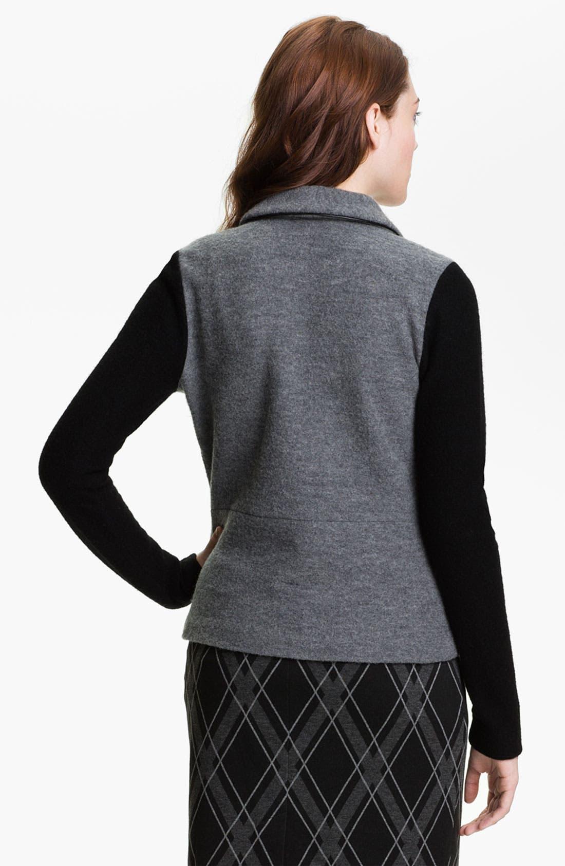 HALOGEN<SUP>®</SUP>,                             Boiled Wool Jacket,                             Alternate thumbnail 4, color,                             020
