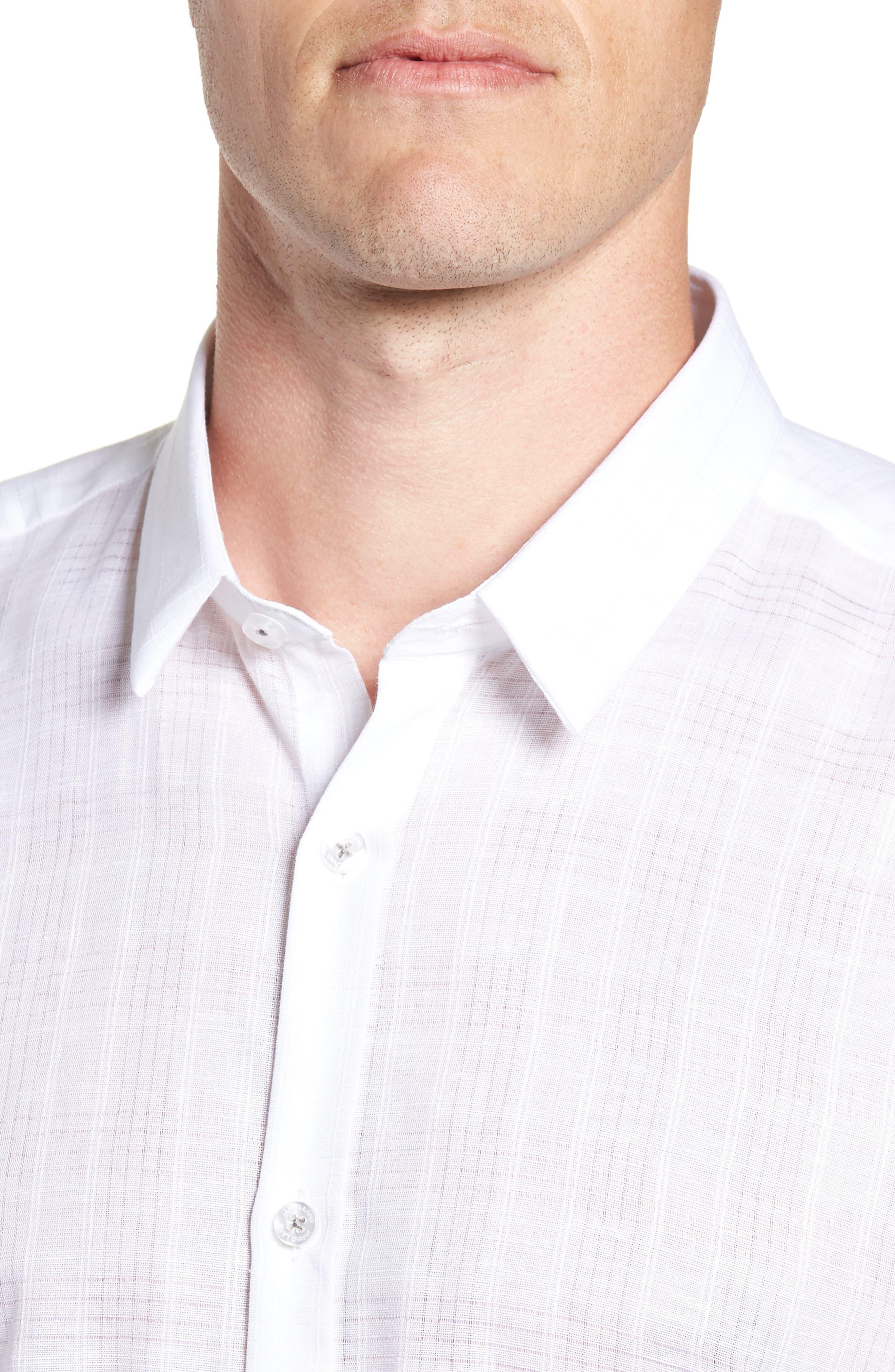 Trim Fit Sport Shirt,                             Alternate thumbnail 2, color,