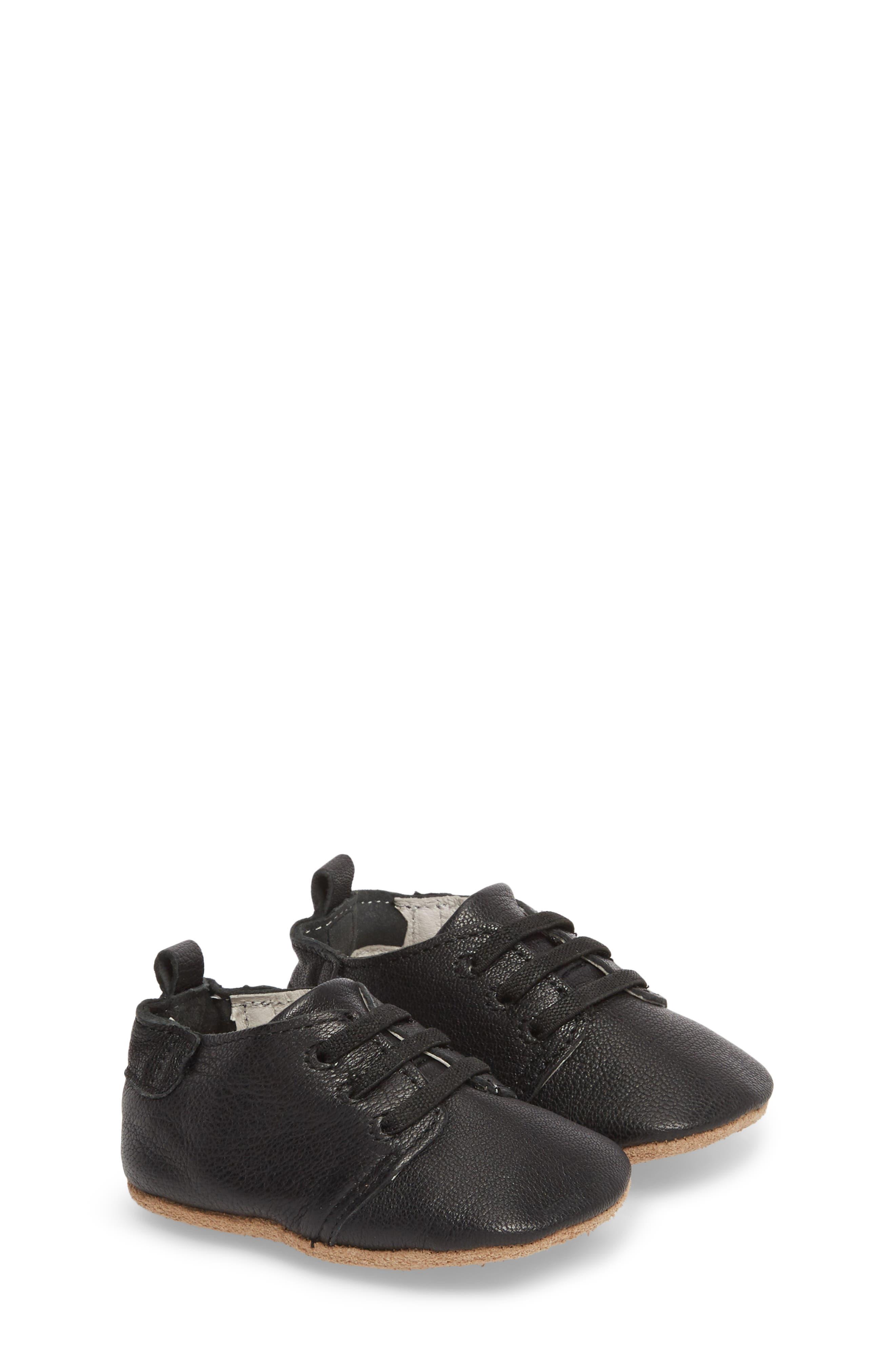 Owen Oxford Crib Shoe,                             Main thumbnail 1, color,                             BLACK