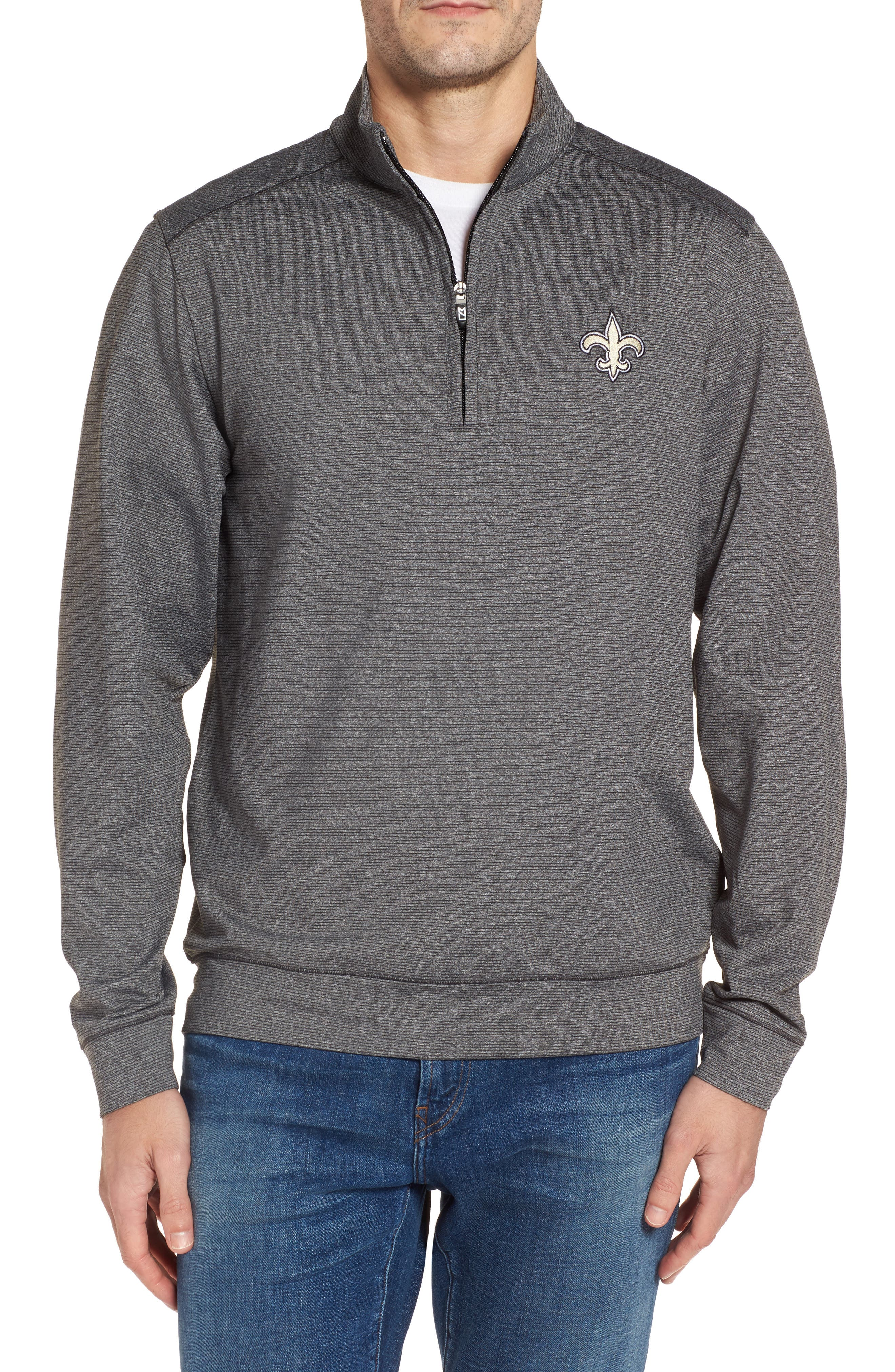 Shoreline - New Orleans Saints Half Zip Pullover,                             Main thumbnail 1, color,                             020