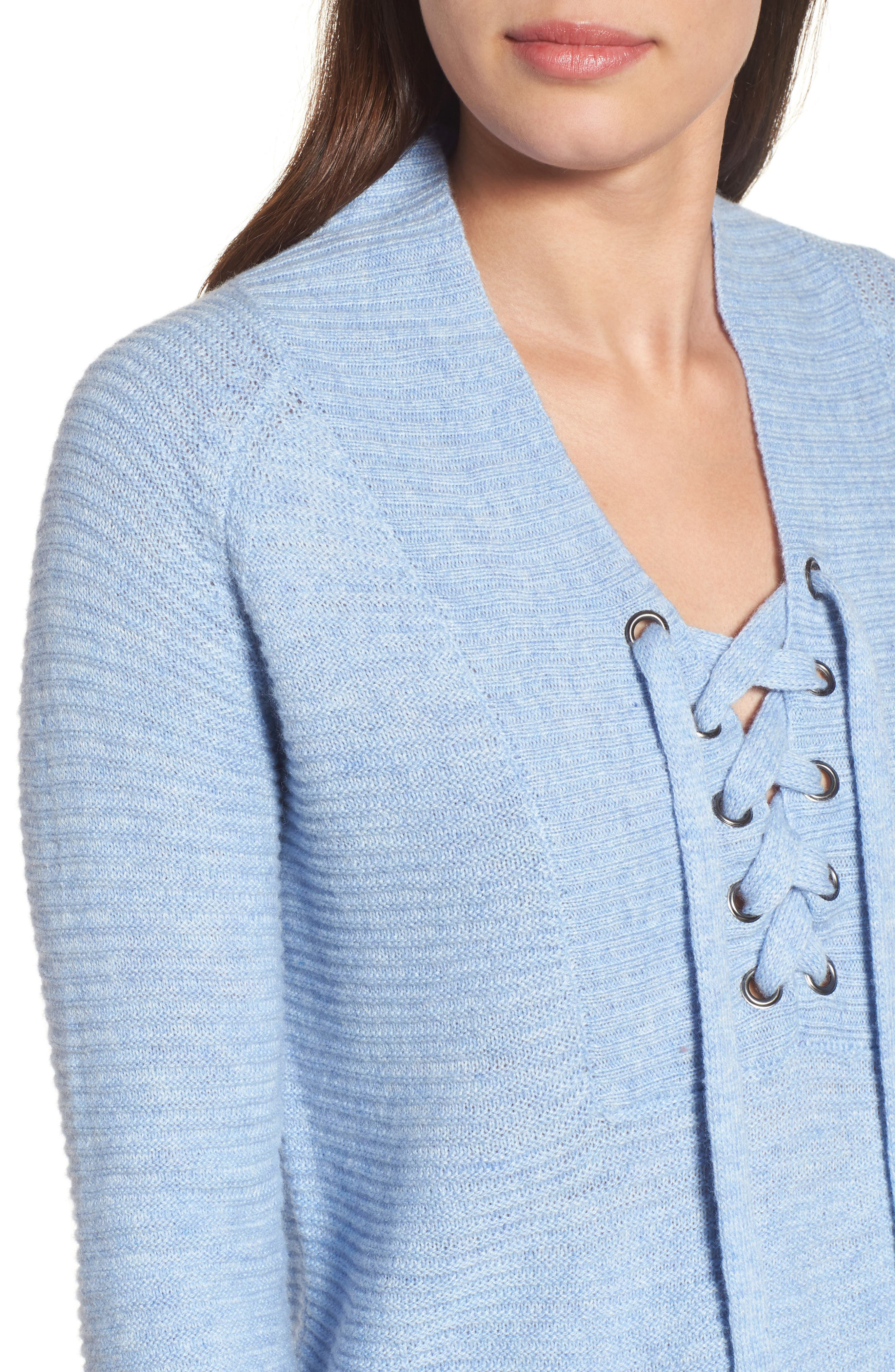 Lace-Up Sweater,                             Alternate thumbnail 8, color,