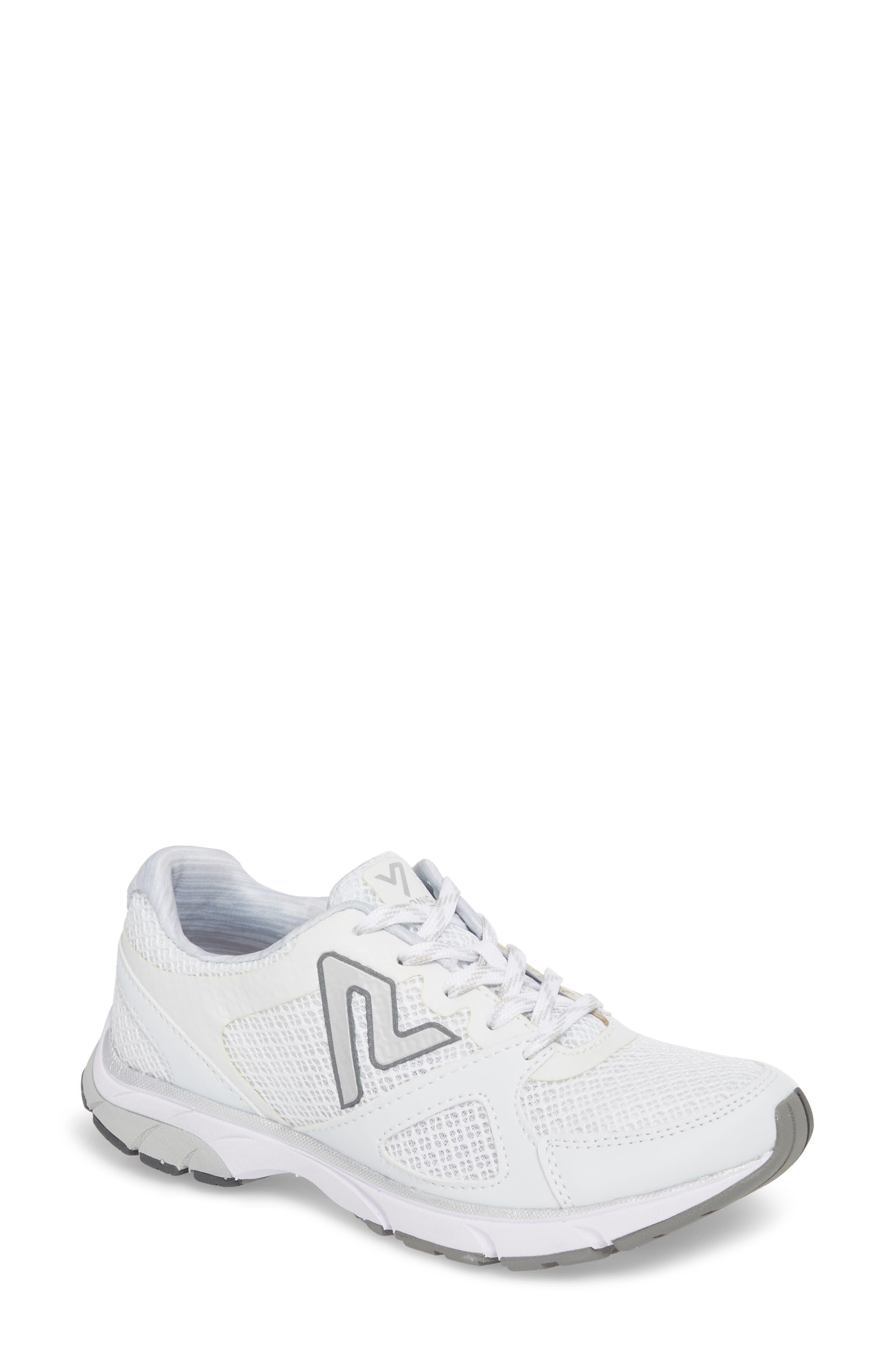 'Satima' Sneaker,                             Main thumbnail 1, color,                             WHITE FABRIC