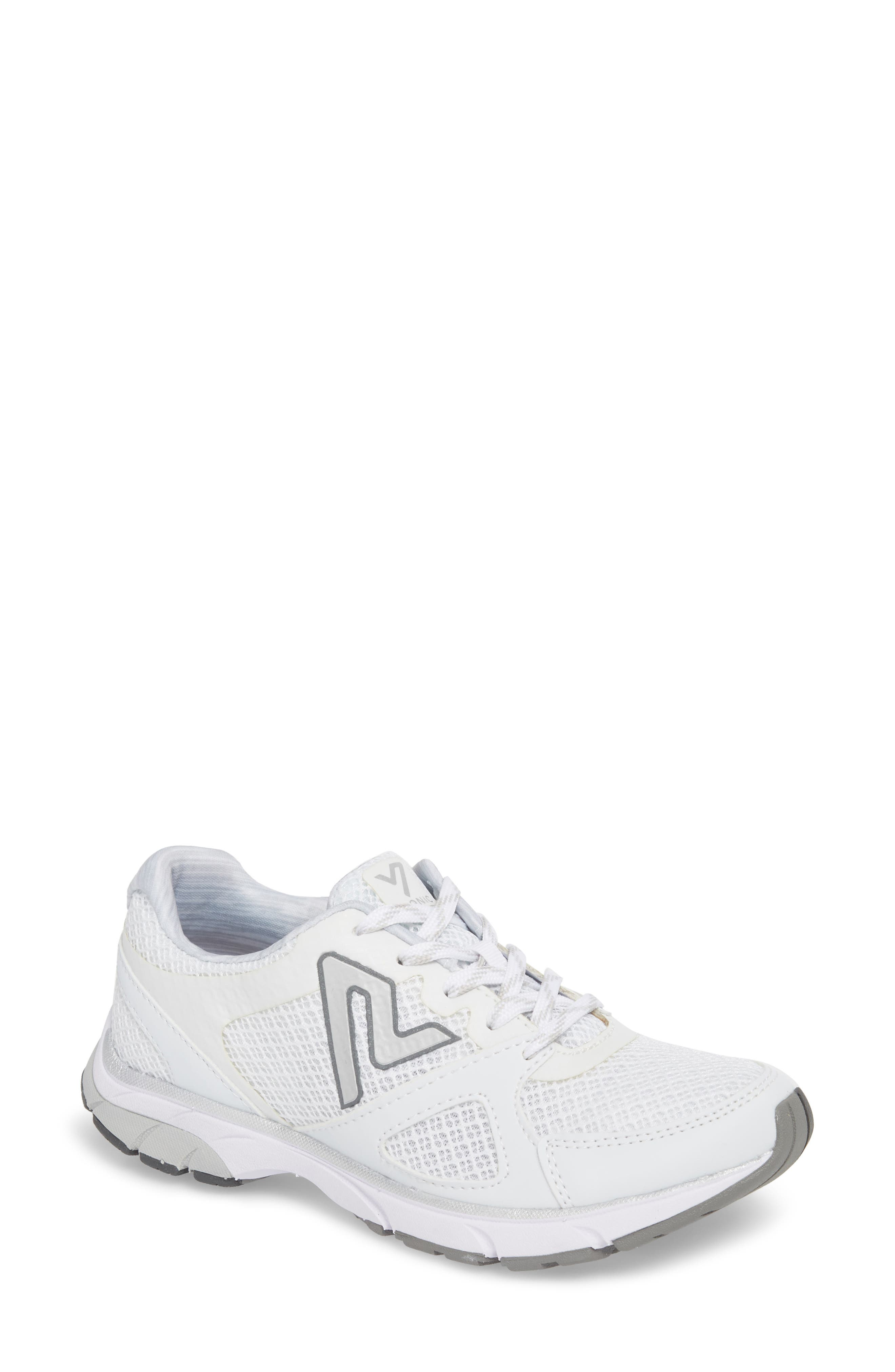 'Satima' Sneaker,                         Main,                         color, WHITE FABRIC