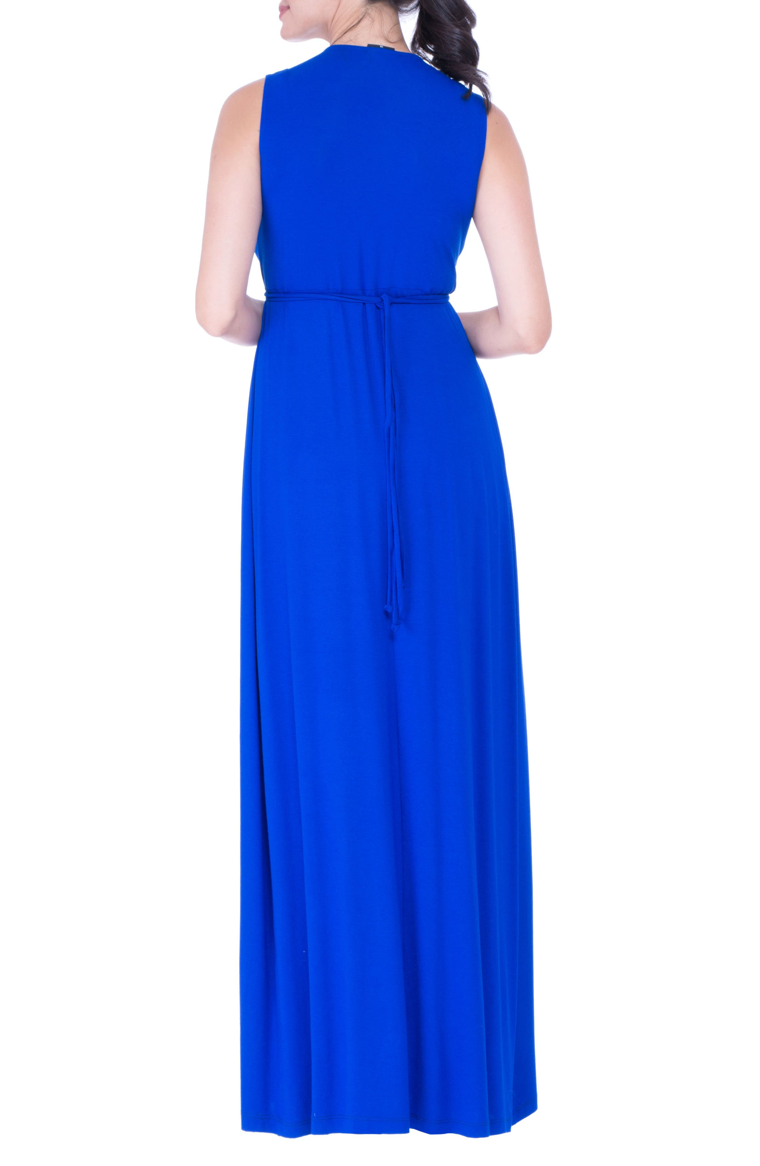 Lucy Maternity Maxi Dress,                             Alternate thumbnail 2, color,                             BLUE