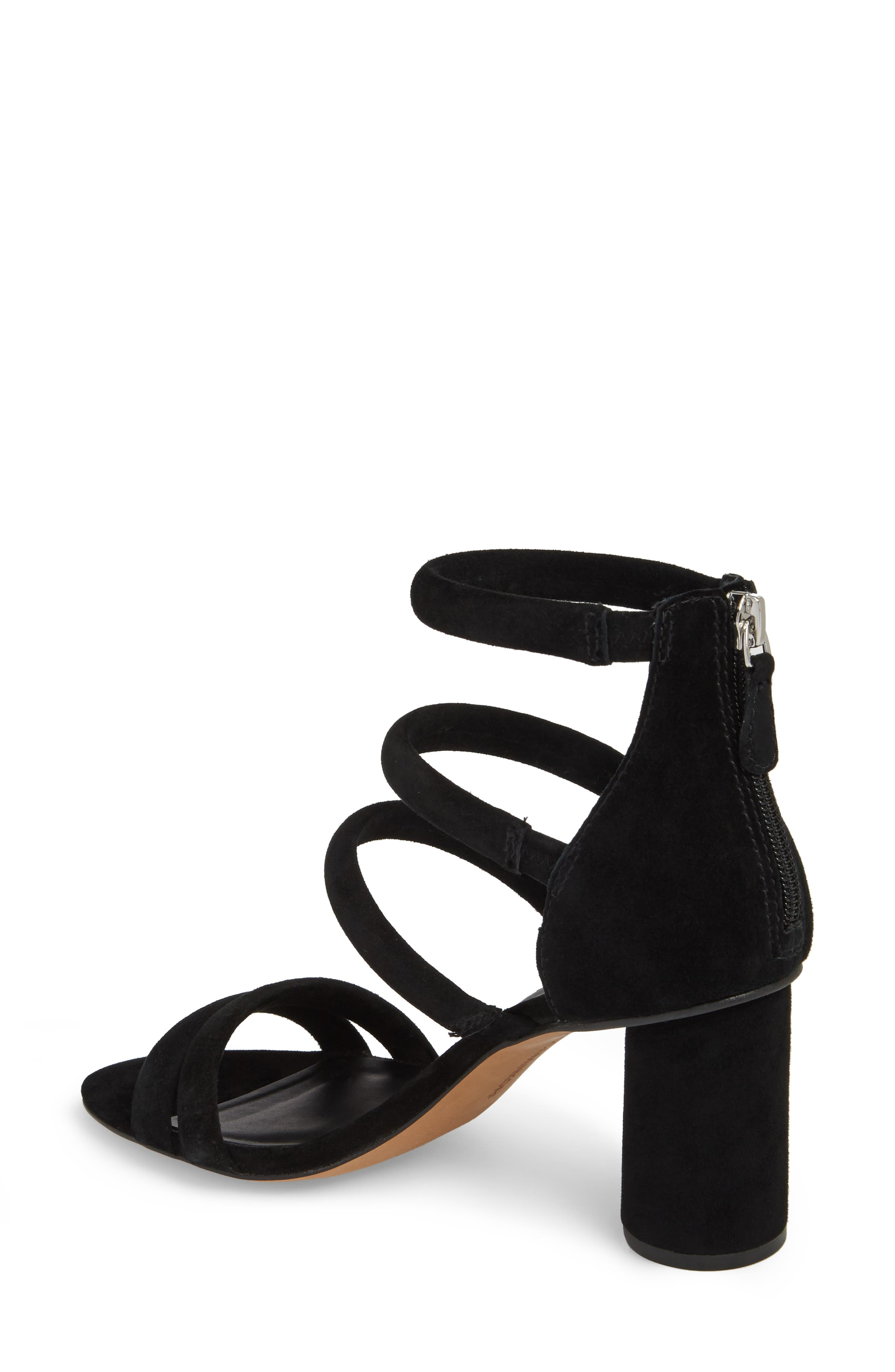 Andree Sandal,                             Alternate thumbnail 2, color,                             BLACK SUEDE