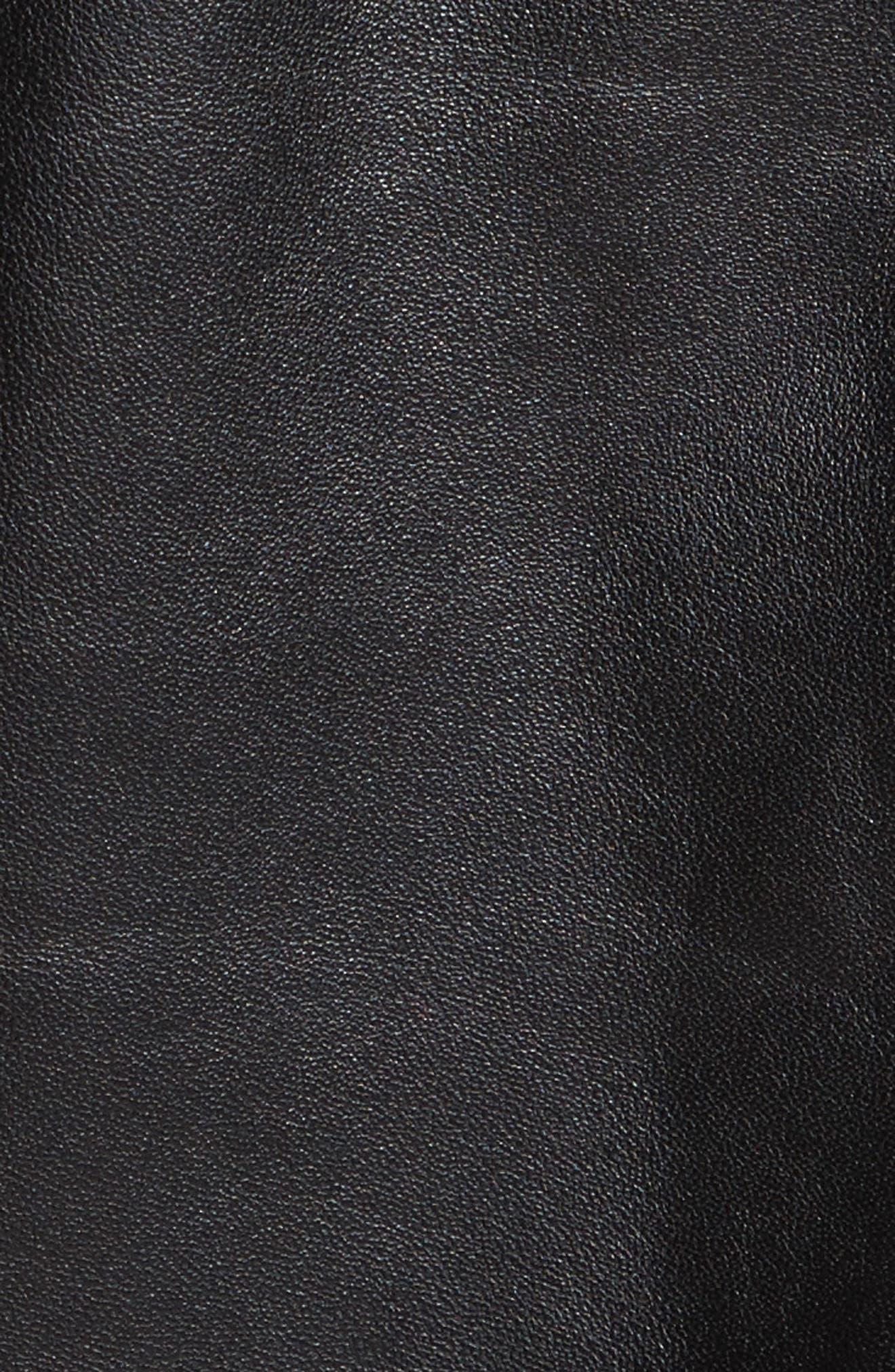 Ryder Leather Biker Jacket,                             Alternate thumbnail 5, color,