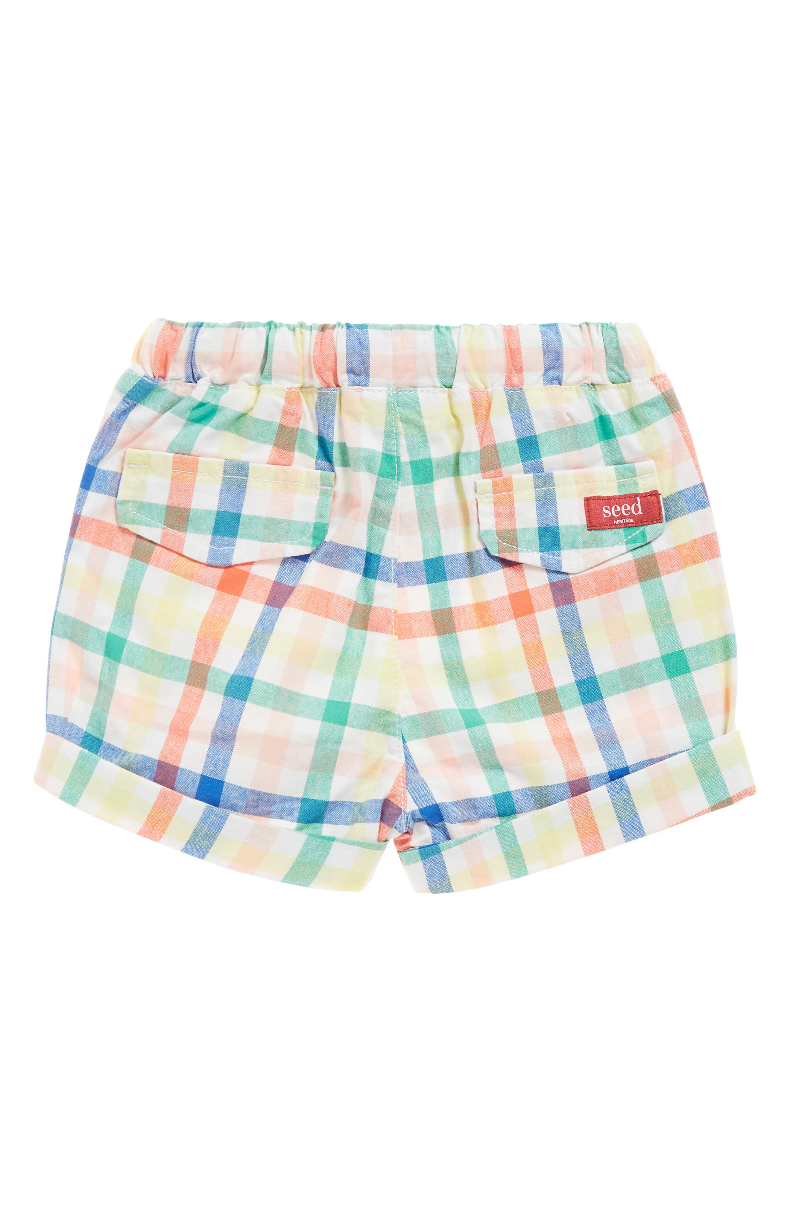 SEED HERITAGE,                             Plaid Woven Shorts,                             Alternate thumbnail 2, color,                             MULTI