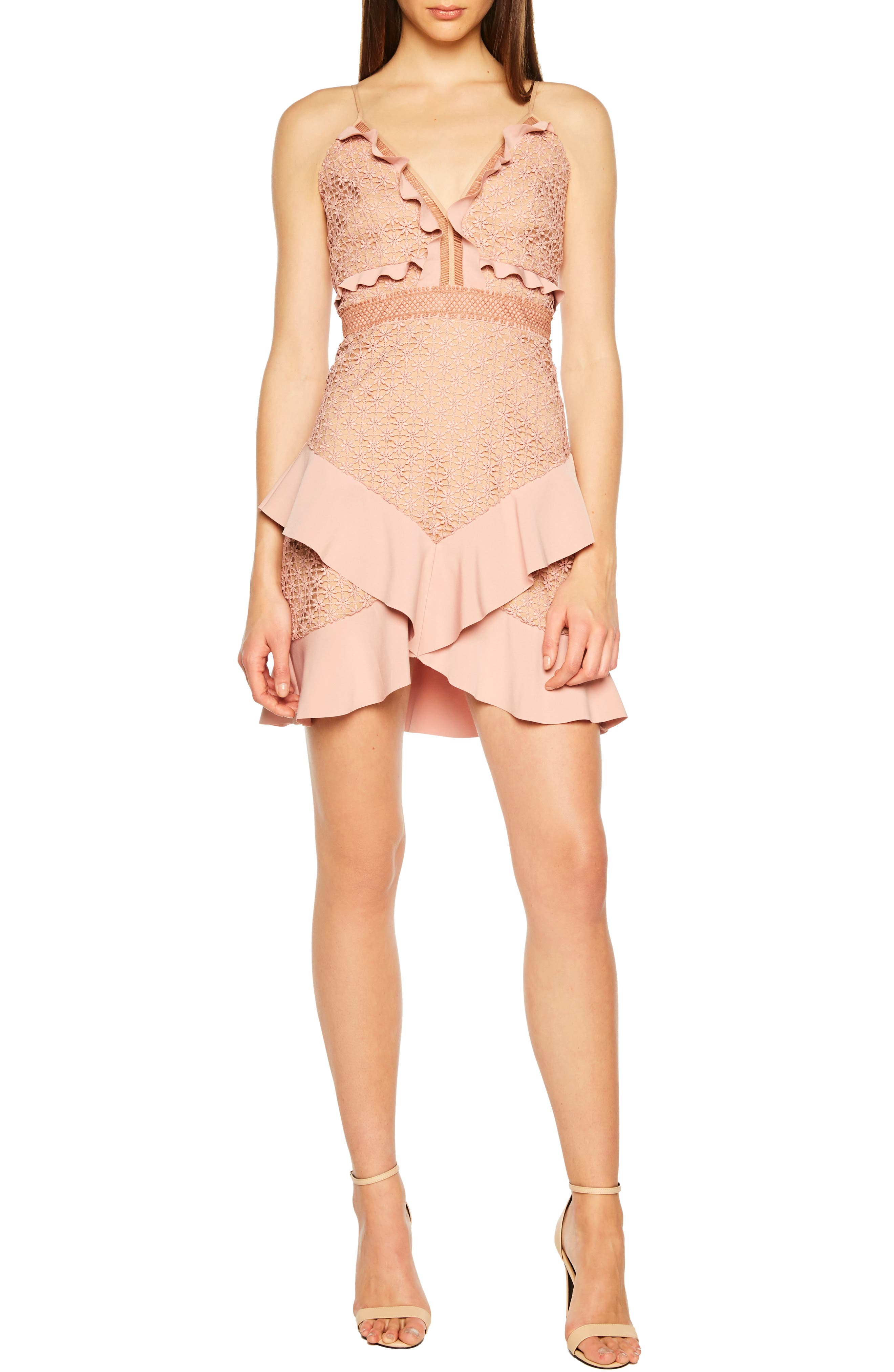 Bardot Fae Lace Dress, Pink