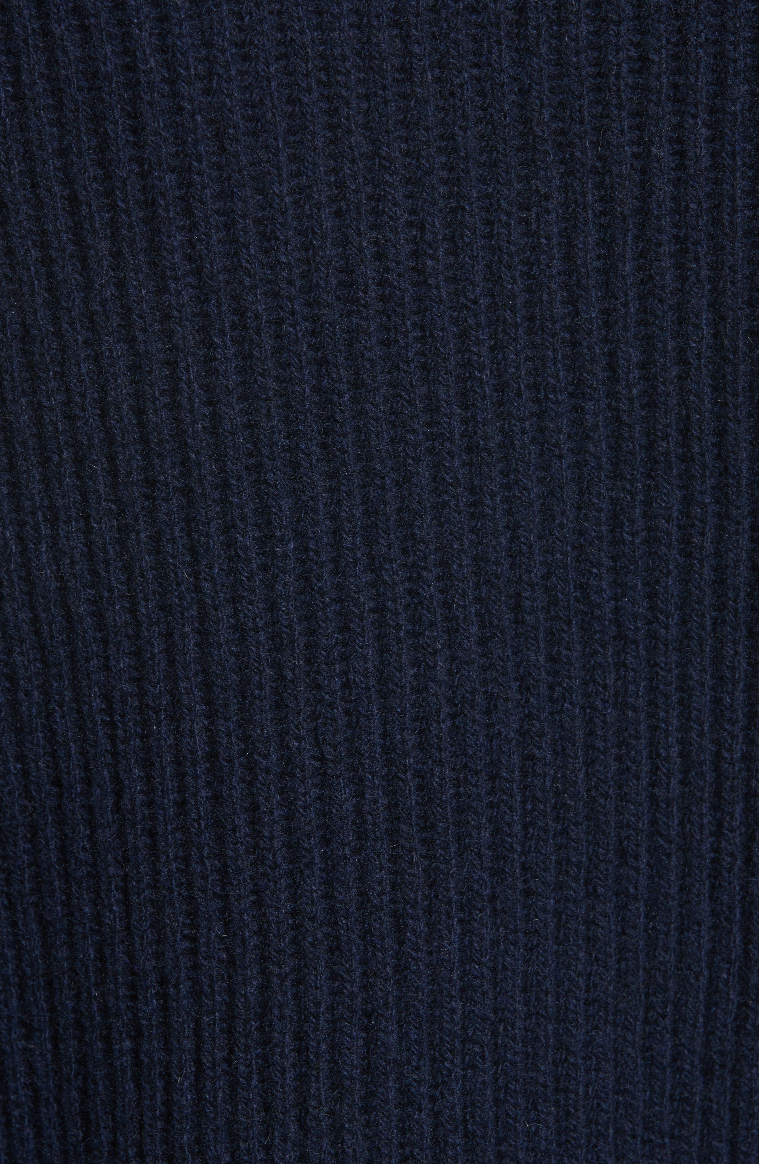 Cashmere & Wool Fringe Sweater,                             Alternate thumbnail 5, color,                             410
