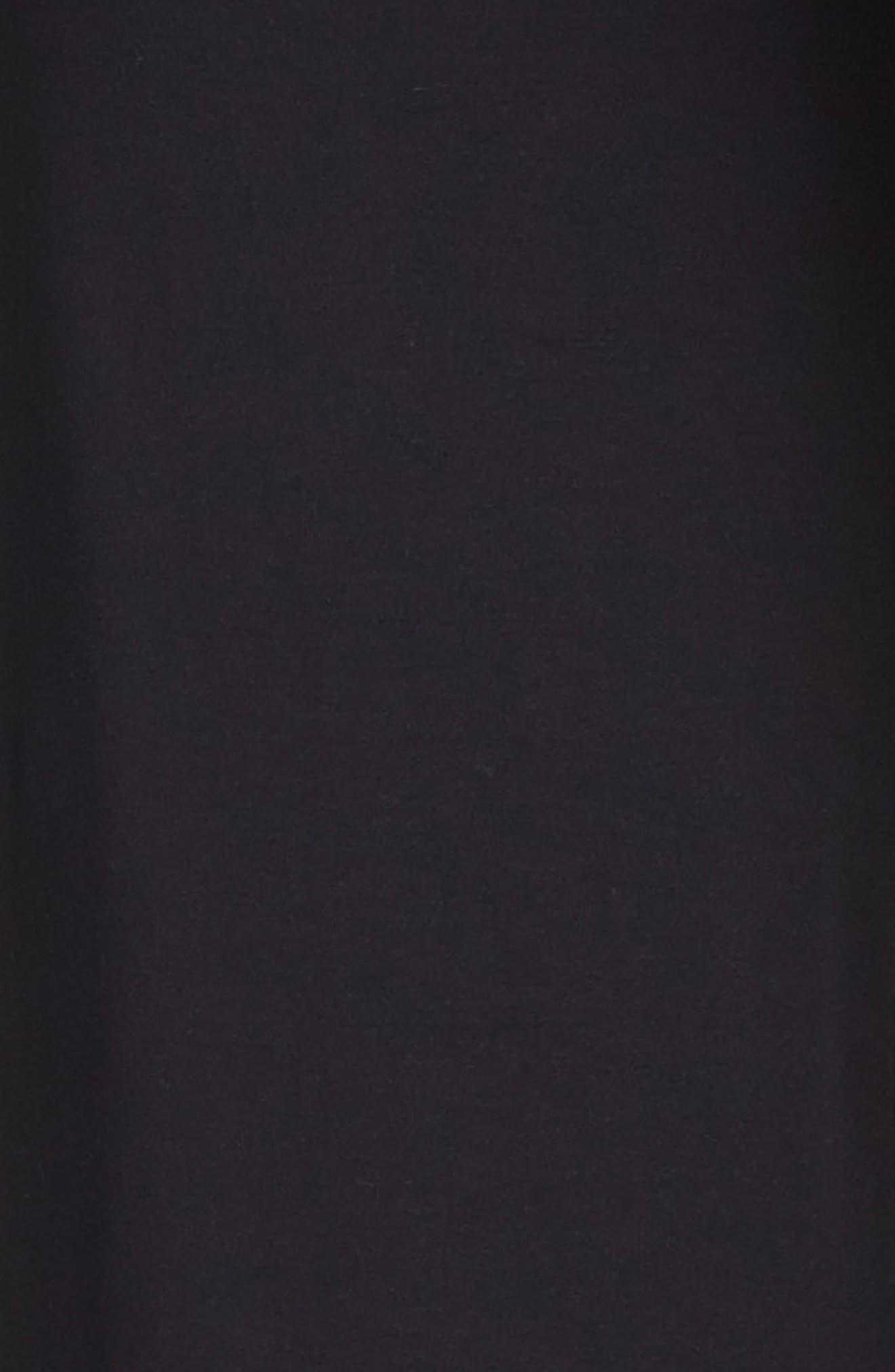 Knit Flare Leg Maternity Pants,                             Alternate thumbnail 3, color,                             BLACK