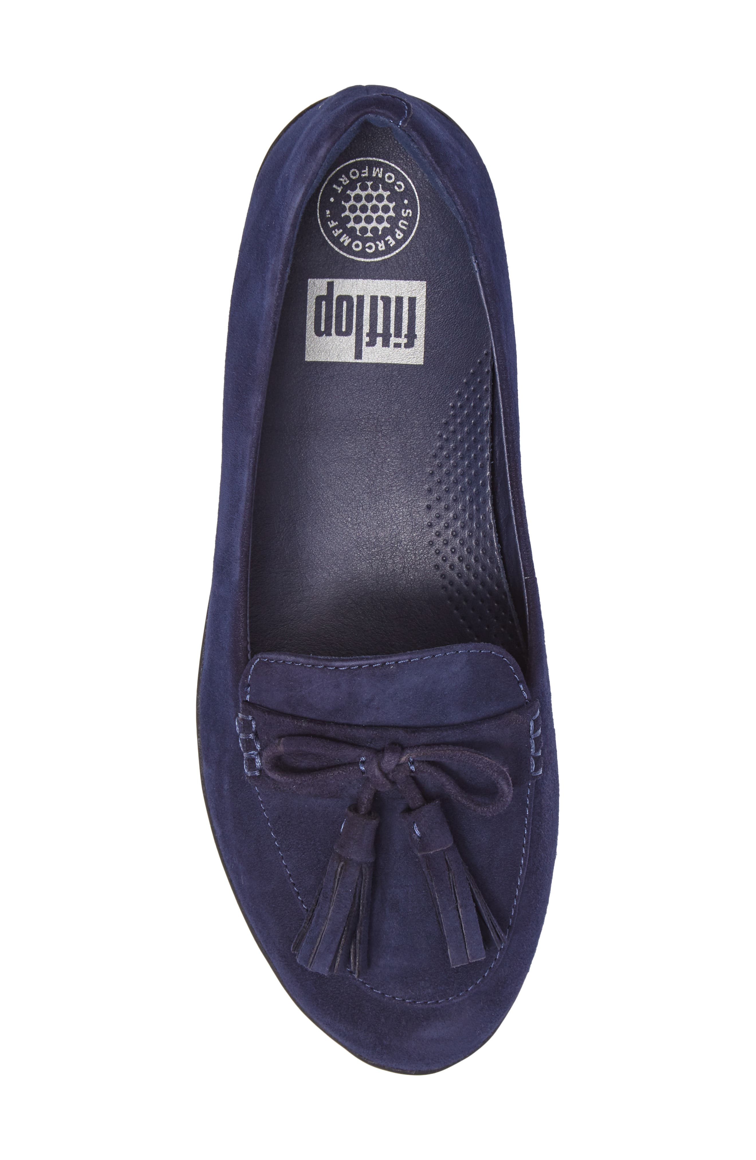 Tassel Bow Sneakerloafer<sup>™</sup> Water Repellent Flat,                             Alternate thumbnail 19, color,