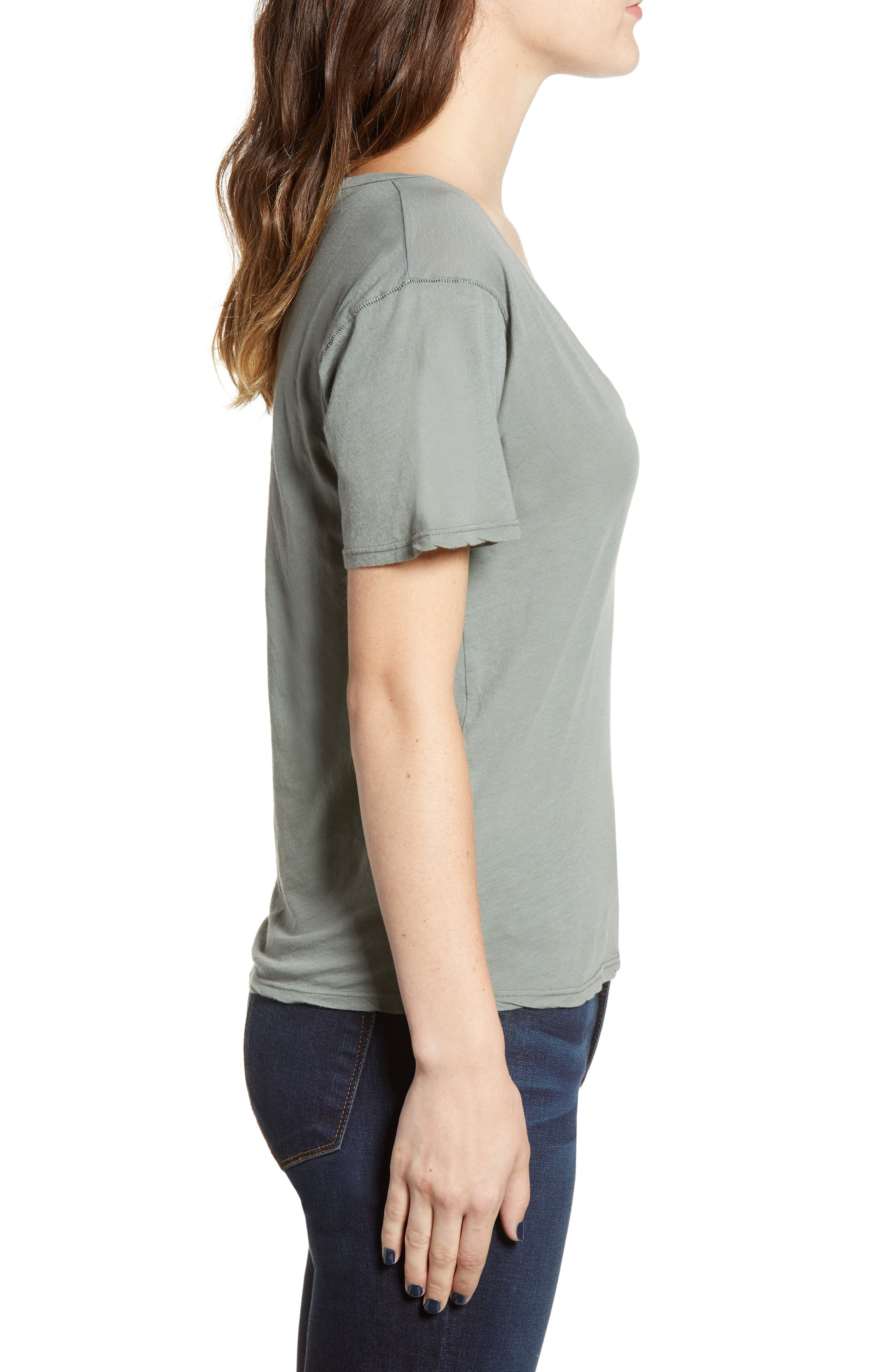 PROJECT SOCIAL T,                             The Softest V-Neck Tee,                             Alternate thumbnail 3, color,                             363