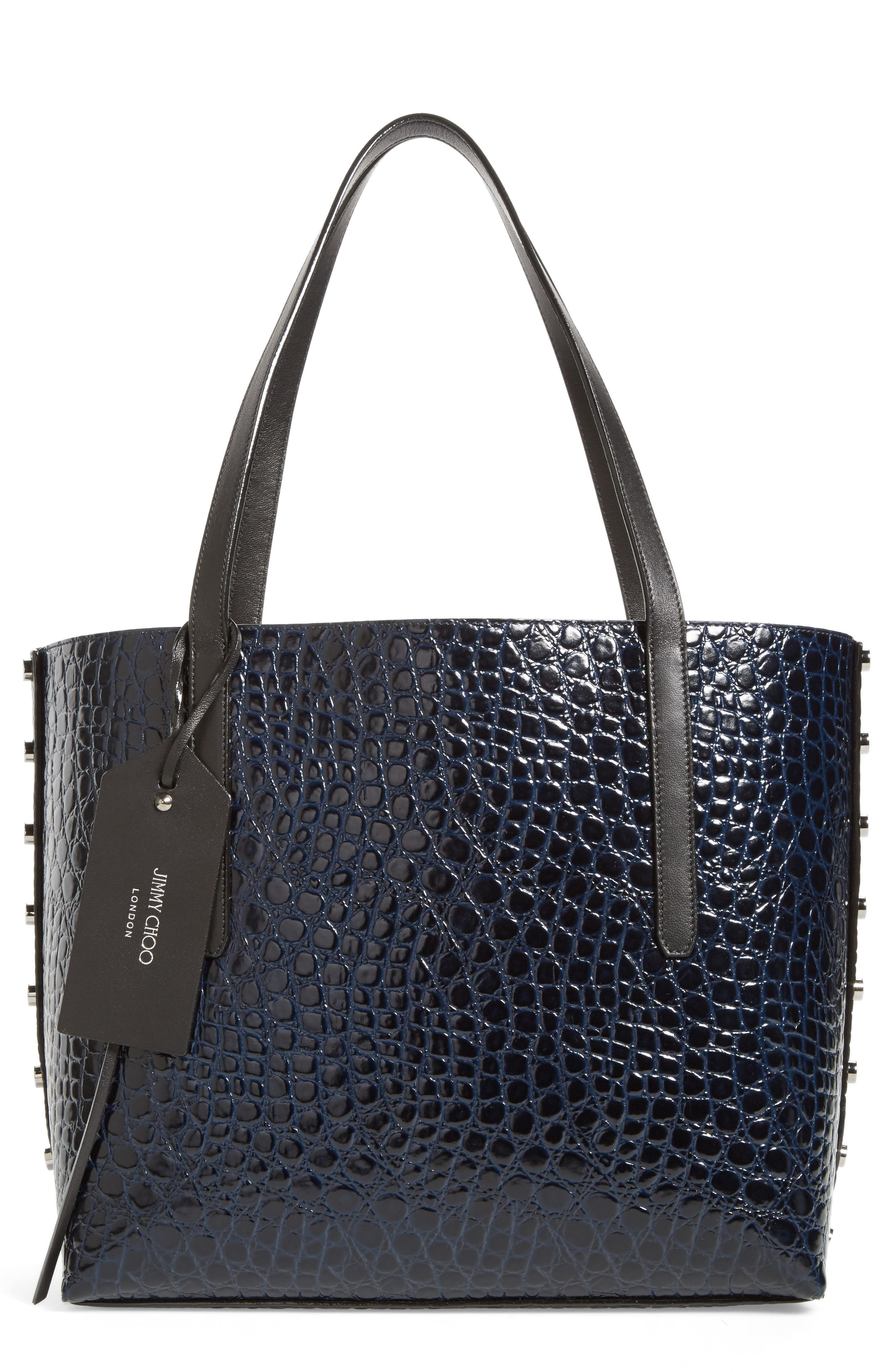 Twist East West Leather Tote,                         Main,                         color, 415