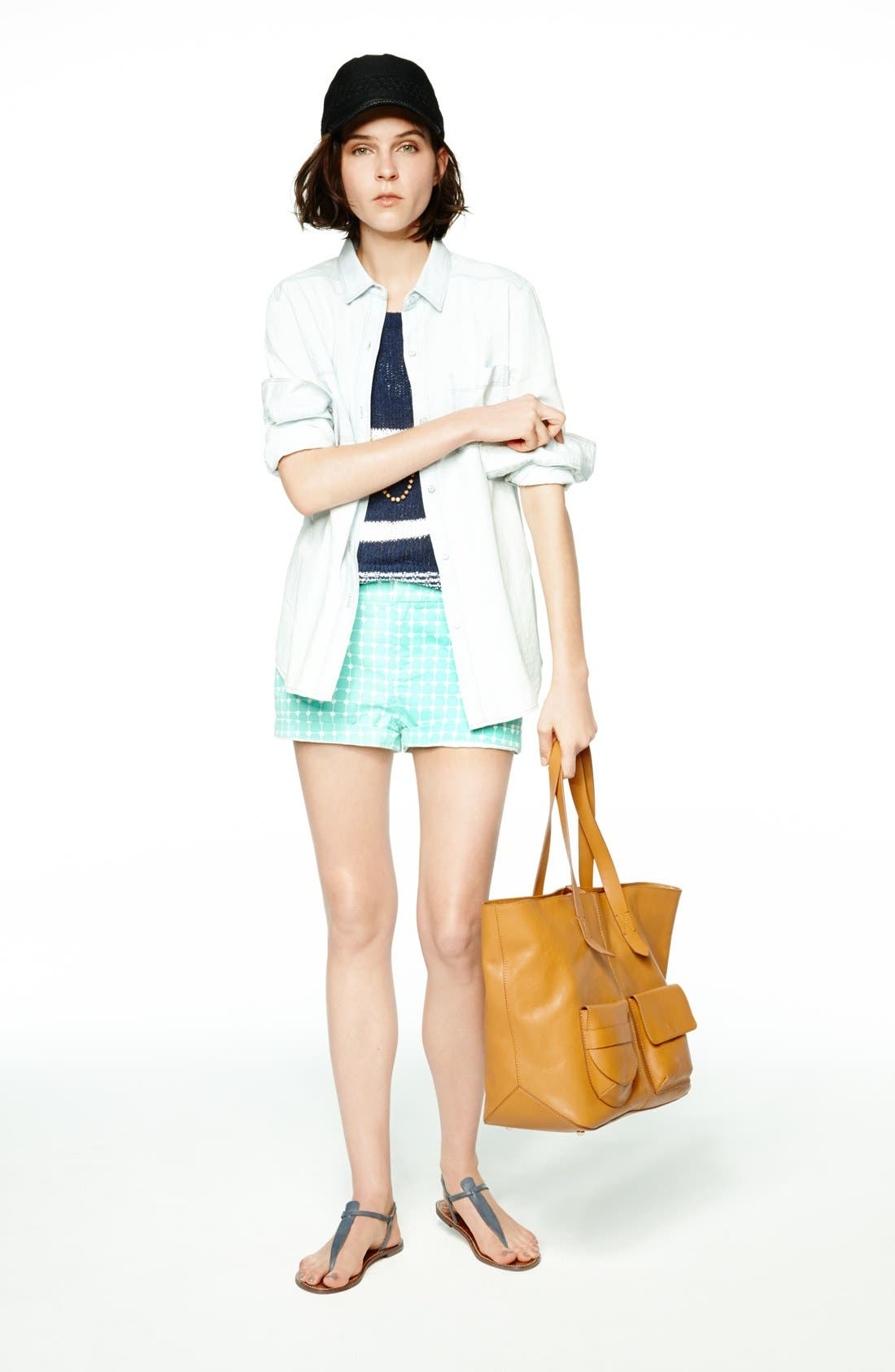 Boyfriend Chambray Shirt,                         Main,                         color, 421