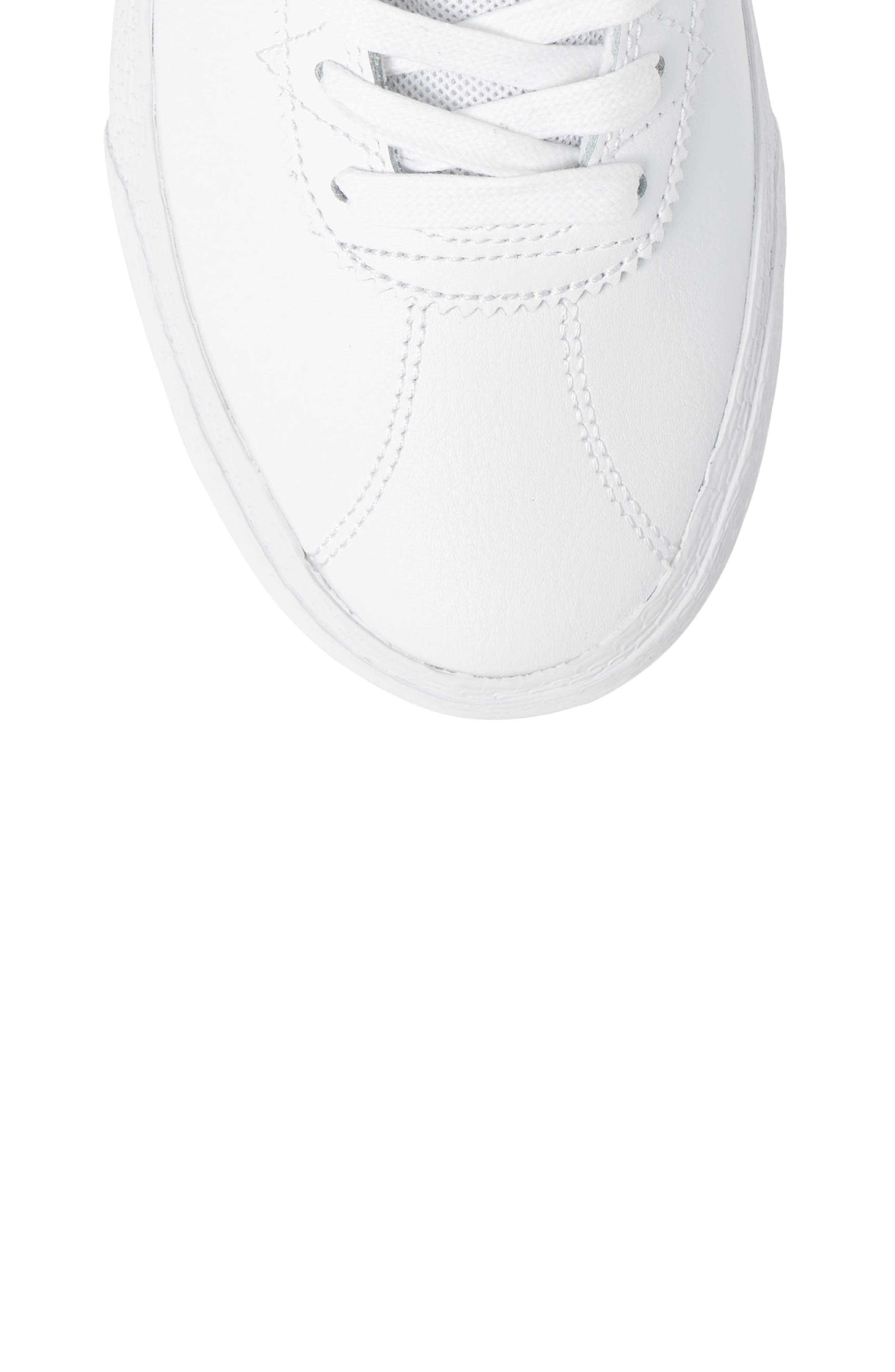 SB Bruin Hi Skateboarding Sneaker,                             Alternate thumbnail 5, color,                             WHITE/ WHITE/ VAST GREY