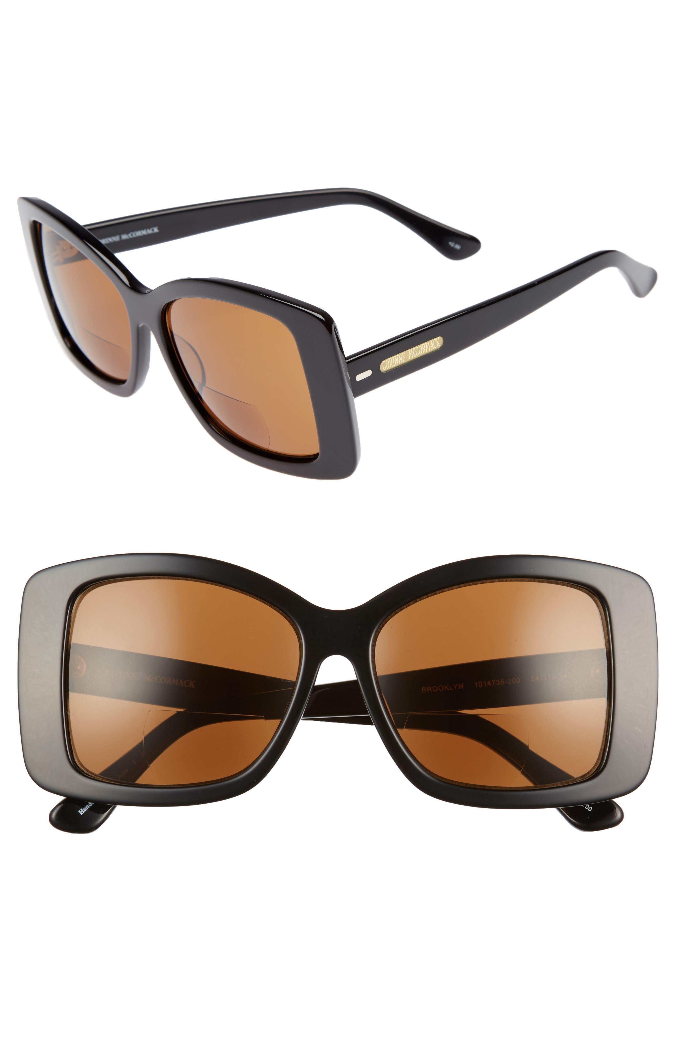 Brooklyn 54mm Reading Sunglasses,                             Main thumbnail 1, color,                             001