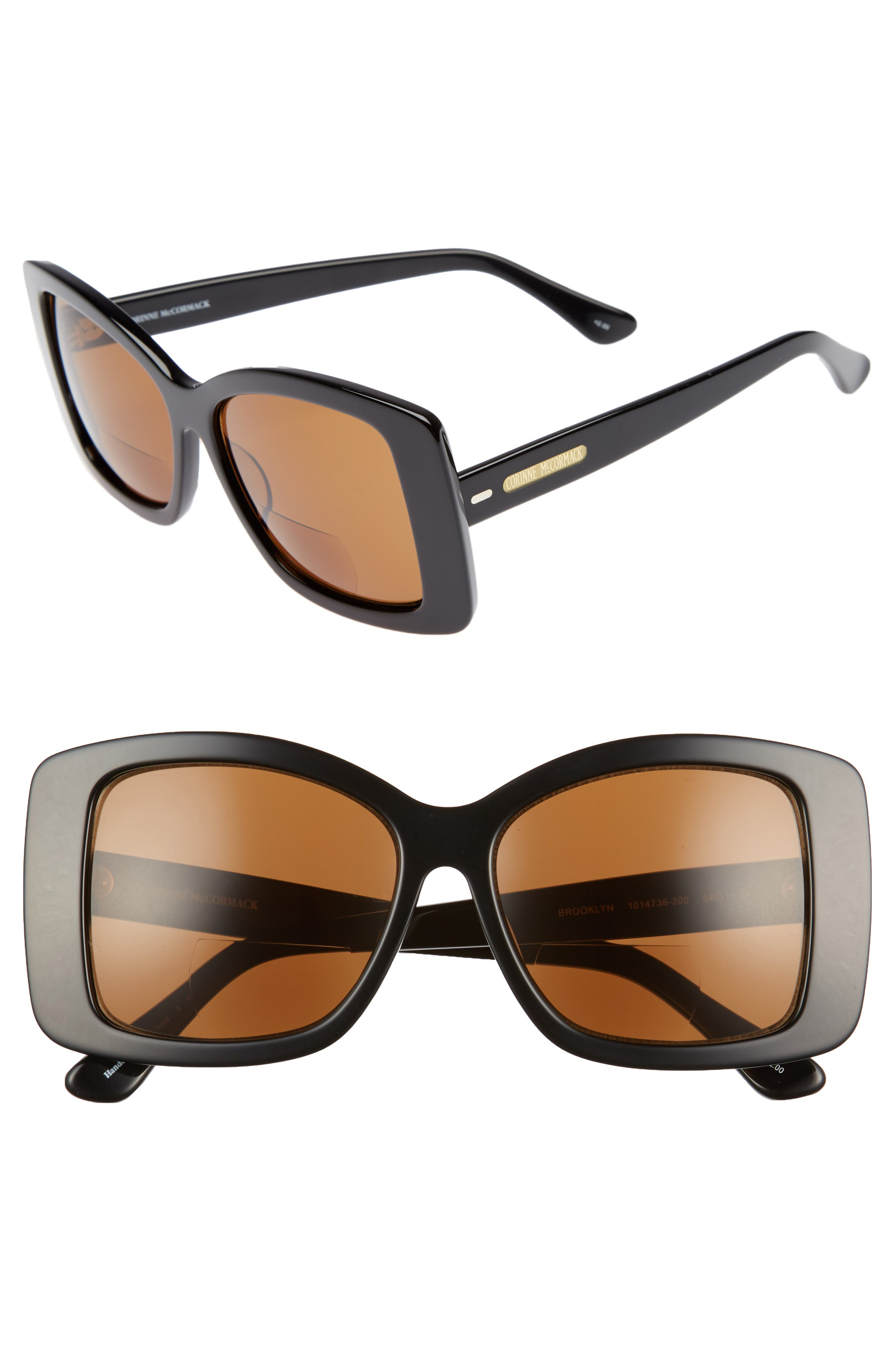 Brooklyn 54mm Reading Sunglasses,                         Main,                         color, 001